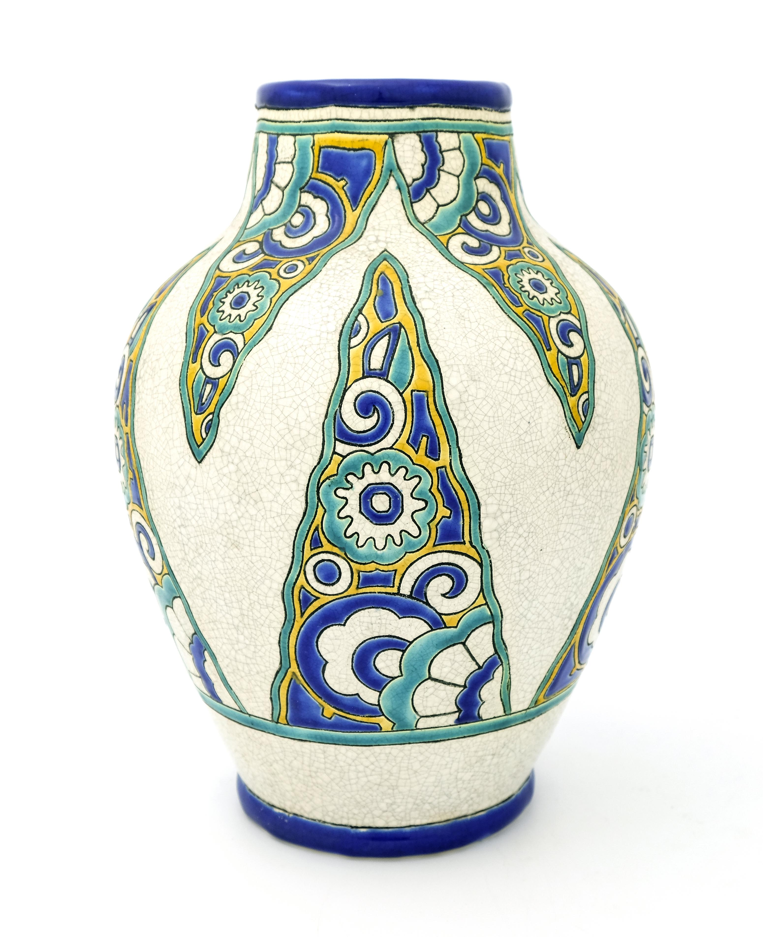 Charles Catteau for Boch Freres, an Art Deco vase
