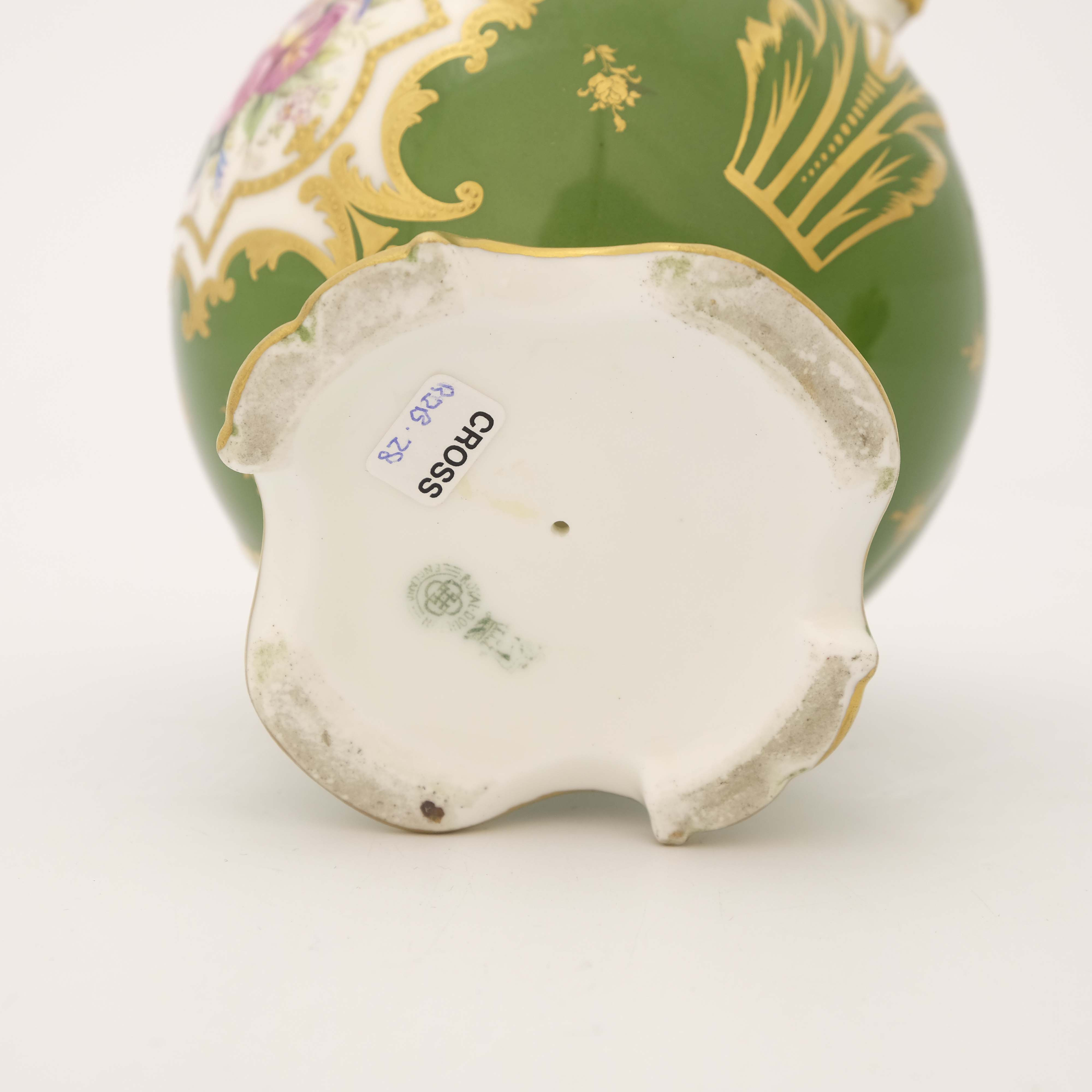 Edwin Wood for Royal Doulton, a floral painted twin handled vase - Image 5 of 7