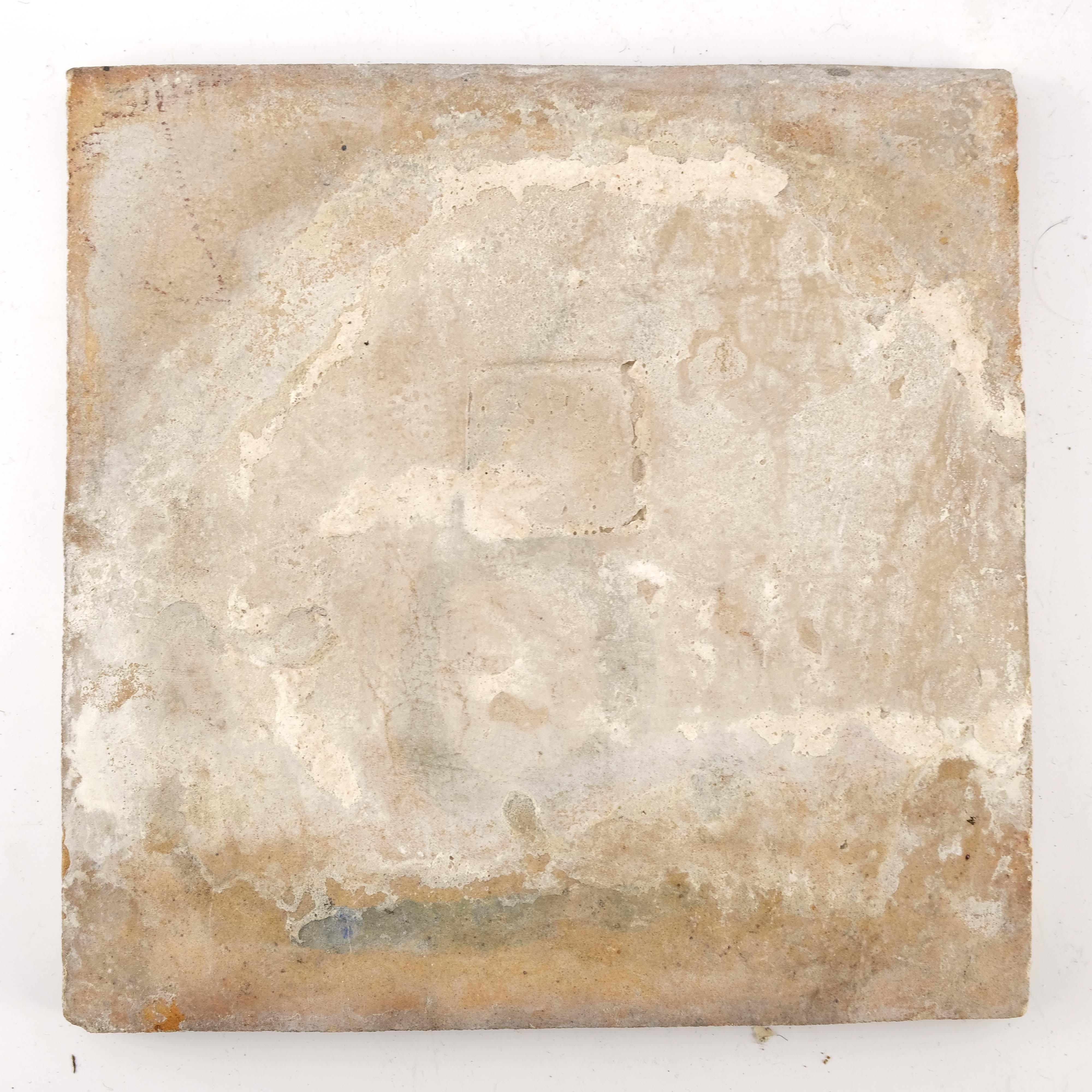 William De Morgan, a large Fan tile - Image 3 of 4