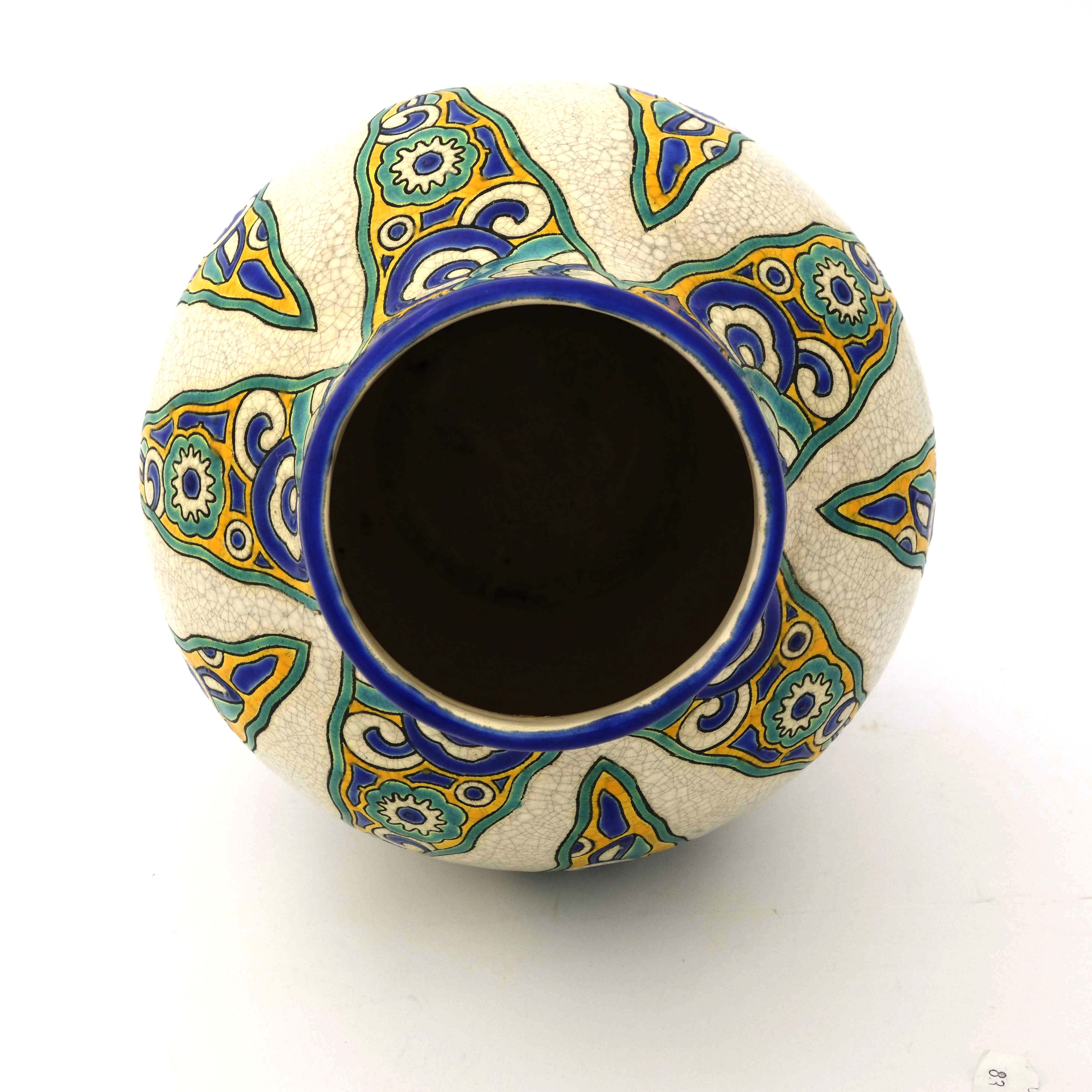 Charles Catteau for Boch Freres, an Art Deco vase - Image 4 of 5