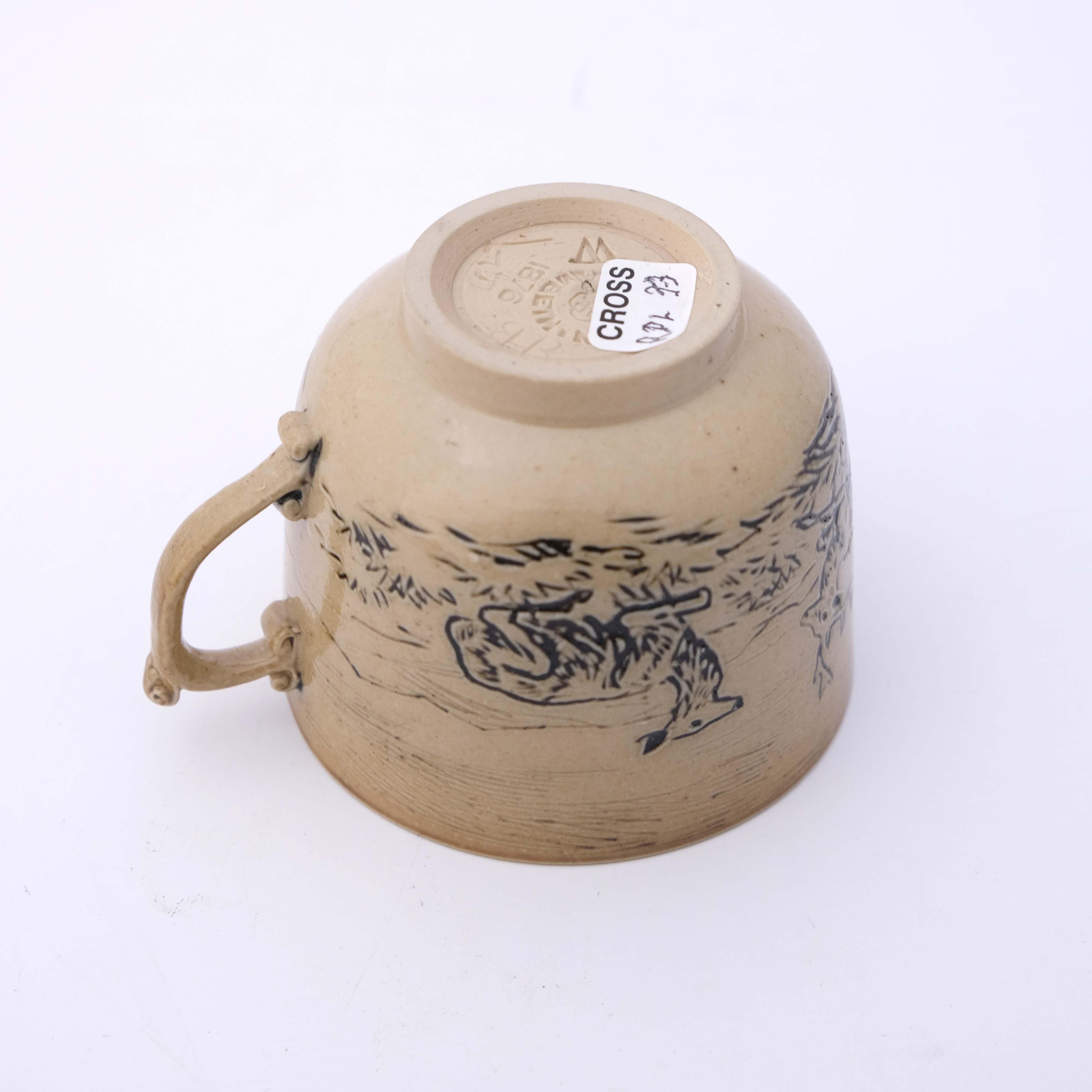 Hannah Barlow for Doulton Lambeth, a stoneware cof - Image 4 of 5