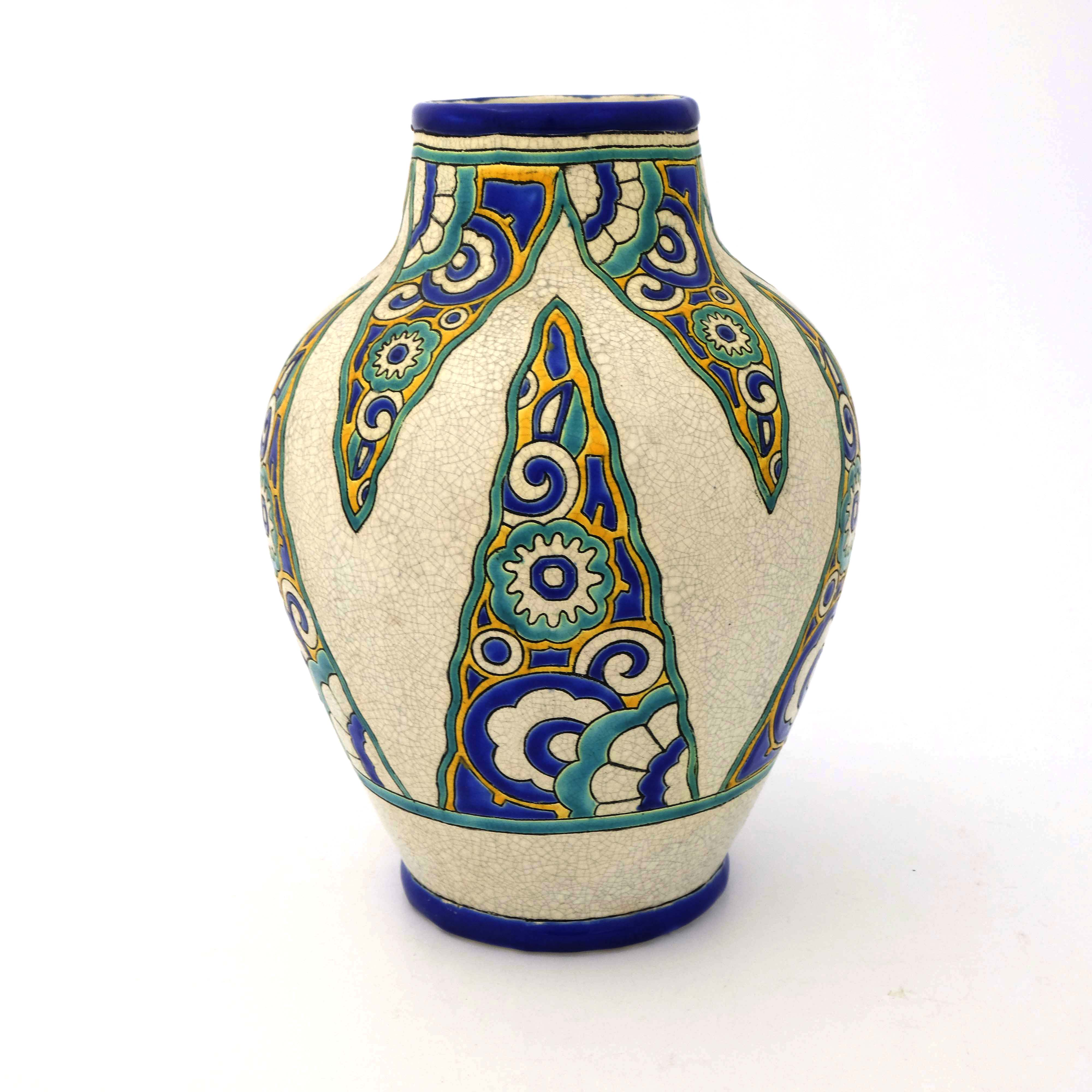 Charles Catteau for Boch Freres, an Art Deco vase - Image 2 of 5