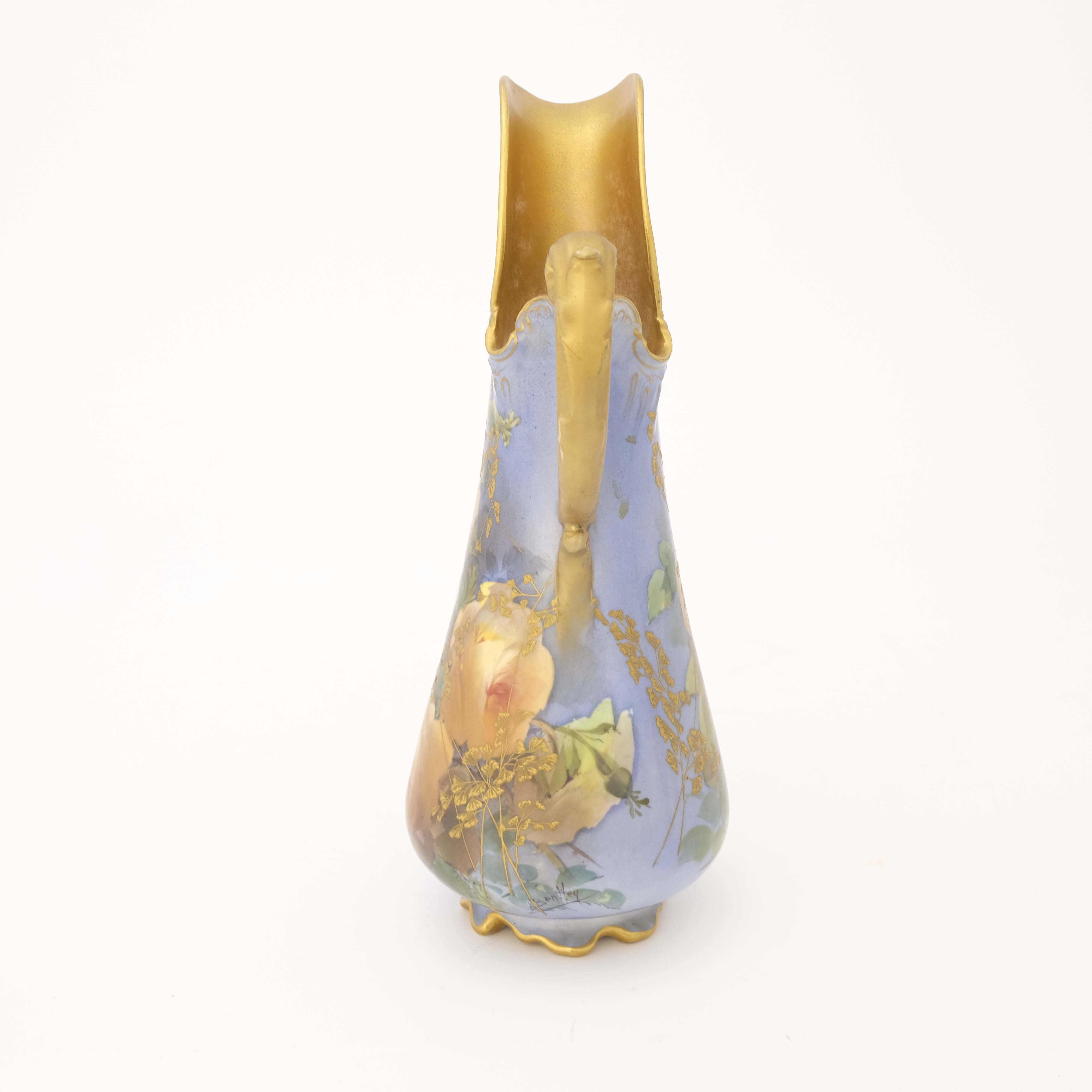 Leonard Bentley for Doulton Burslem, a rose painte - Image 4 of 6