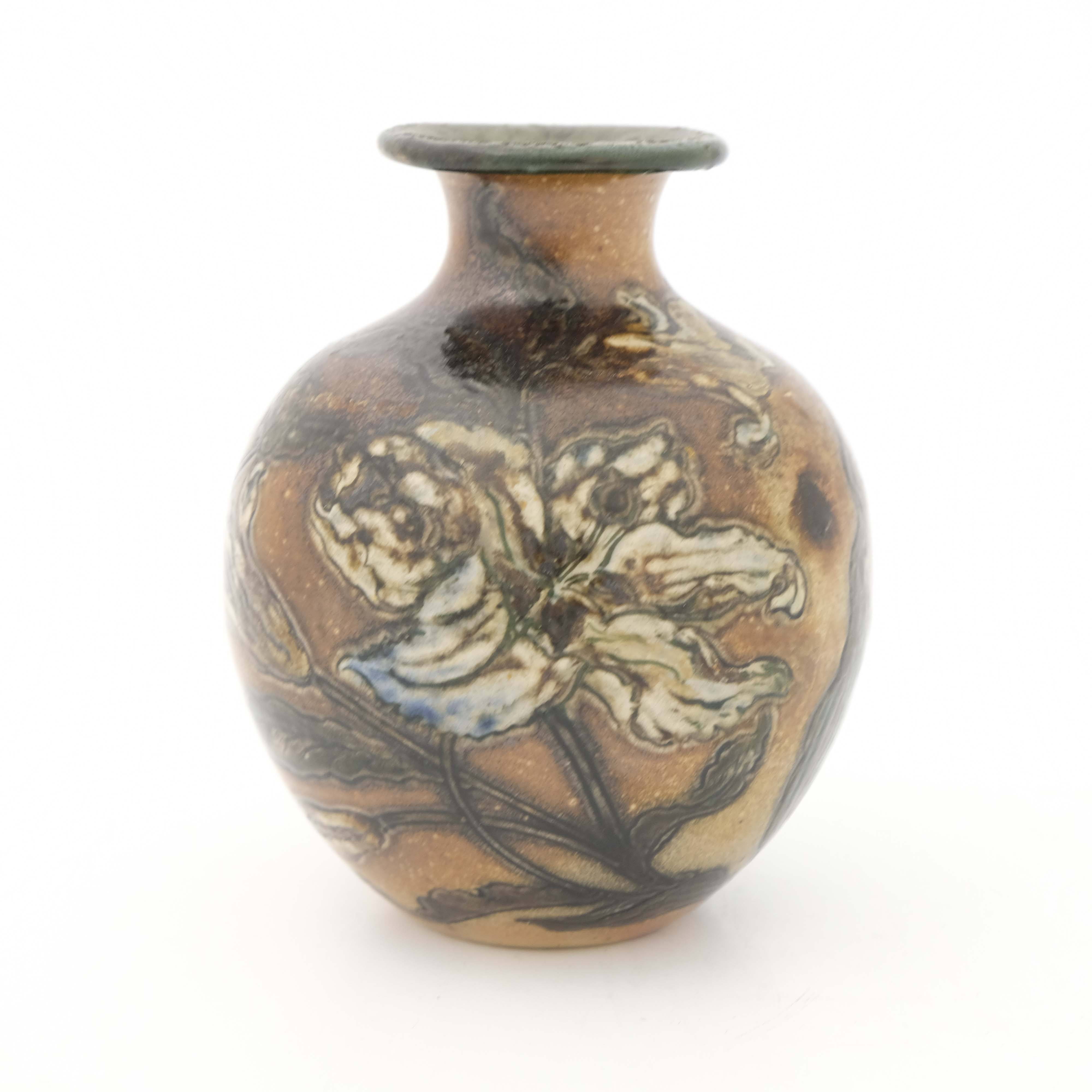 Edwin Martin for Martin Brothers, a stoneware vase - Image 3 of 5