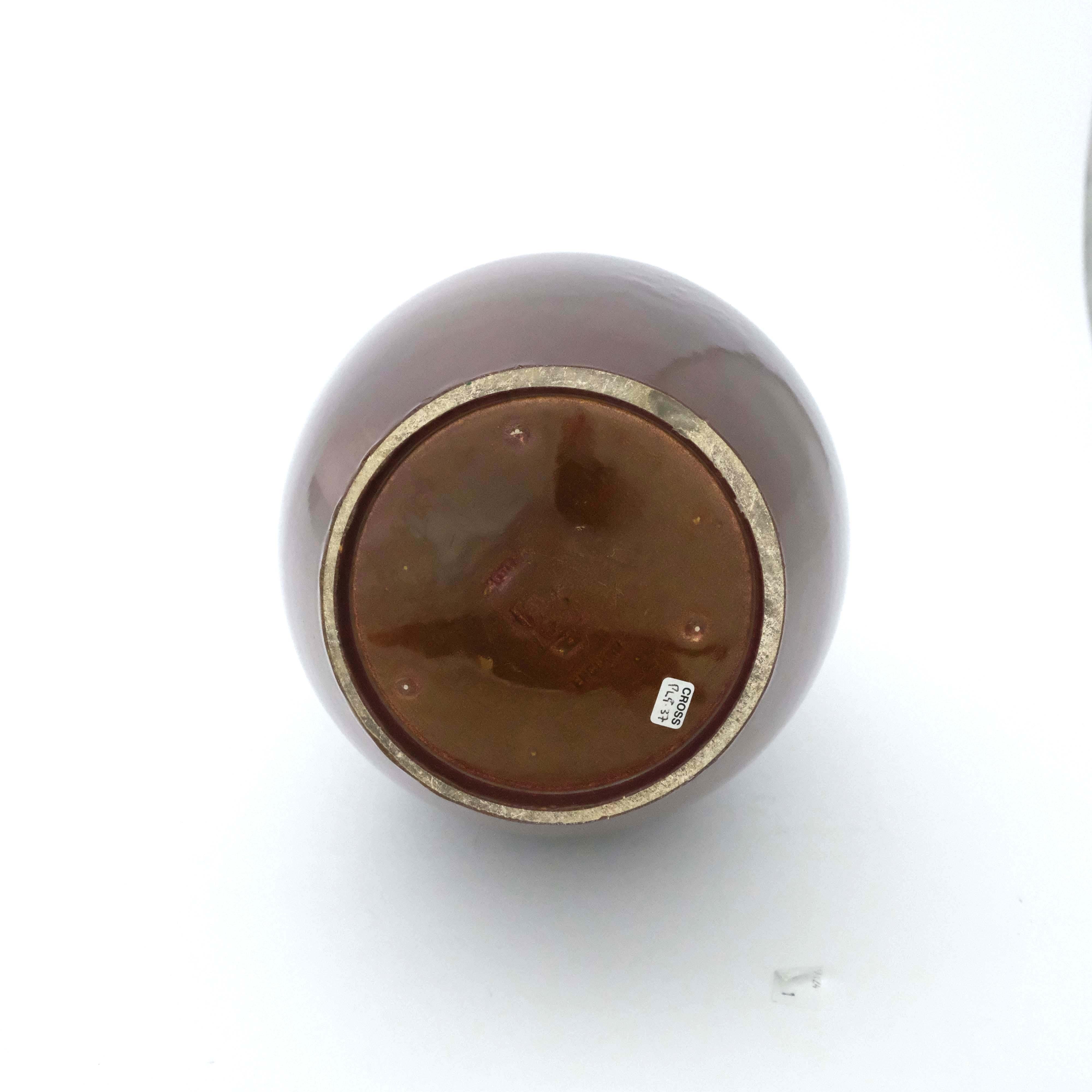Pilkington, a large Royal Lancastrian brown textur - Image 3 of 3