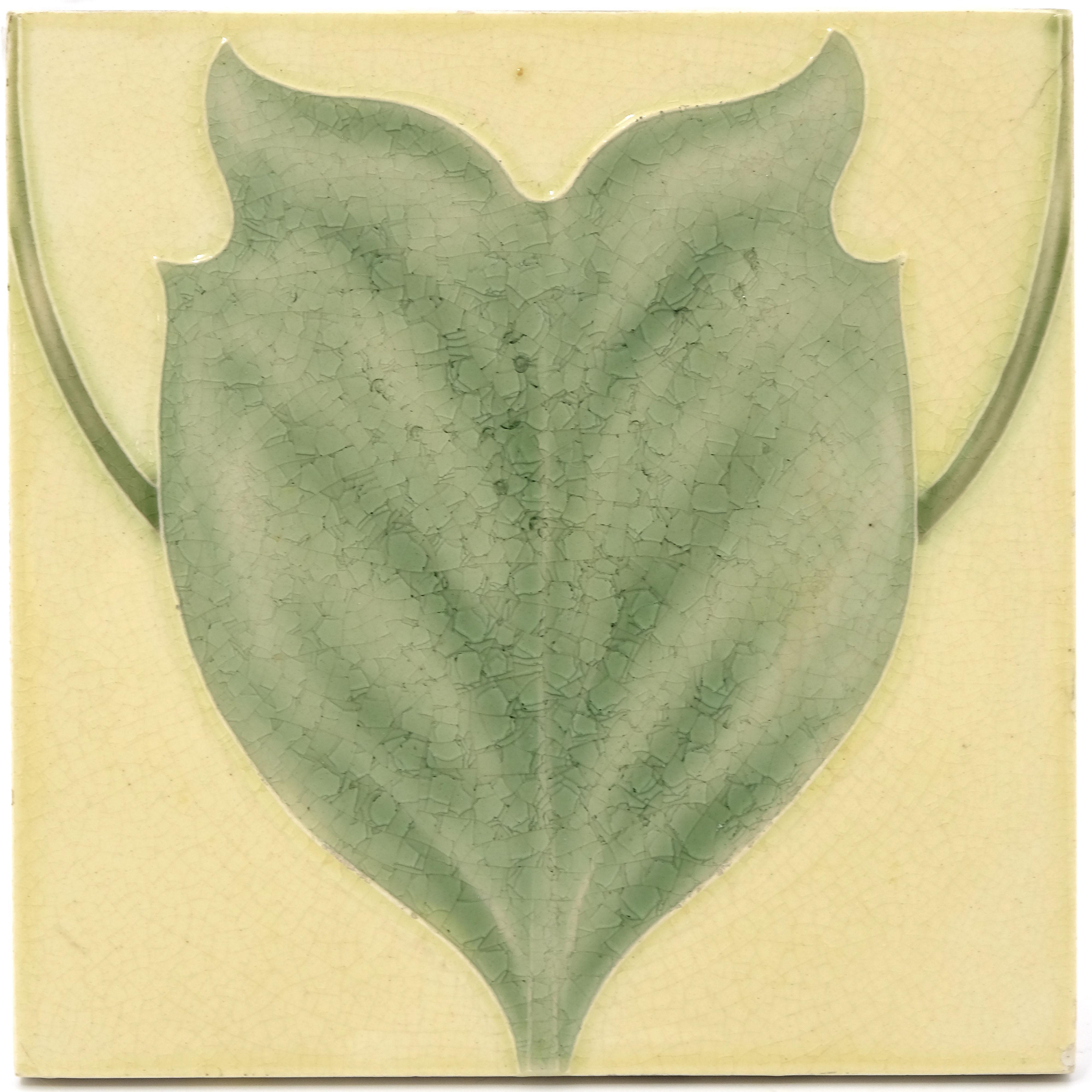 C F A Voysey for Pilkington, two Royal Lancastrian Tulip Tree tiles - Image 2 of 2
