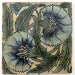 William De Morgan, a Double Carnation large tile