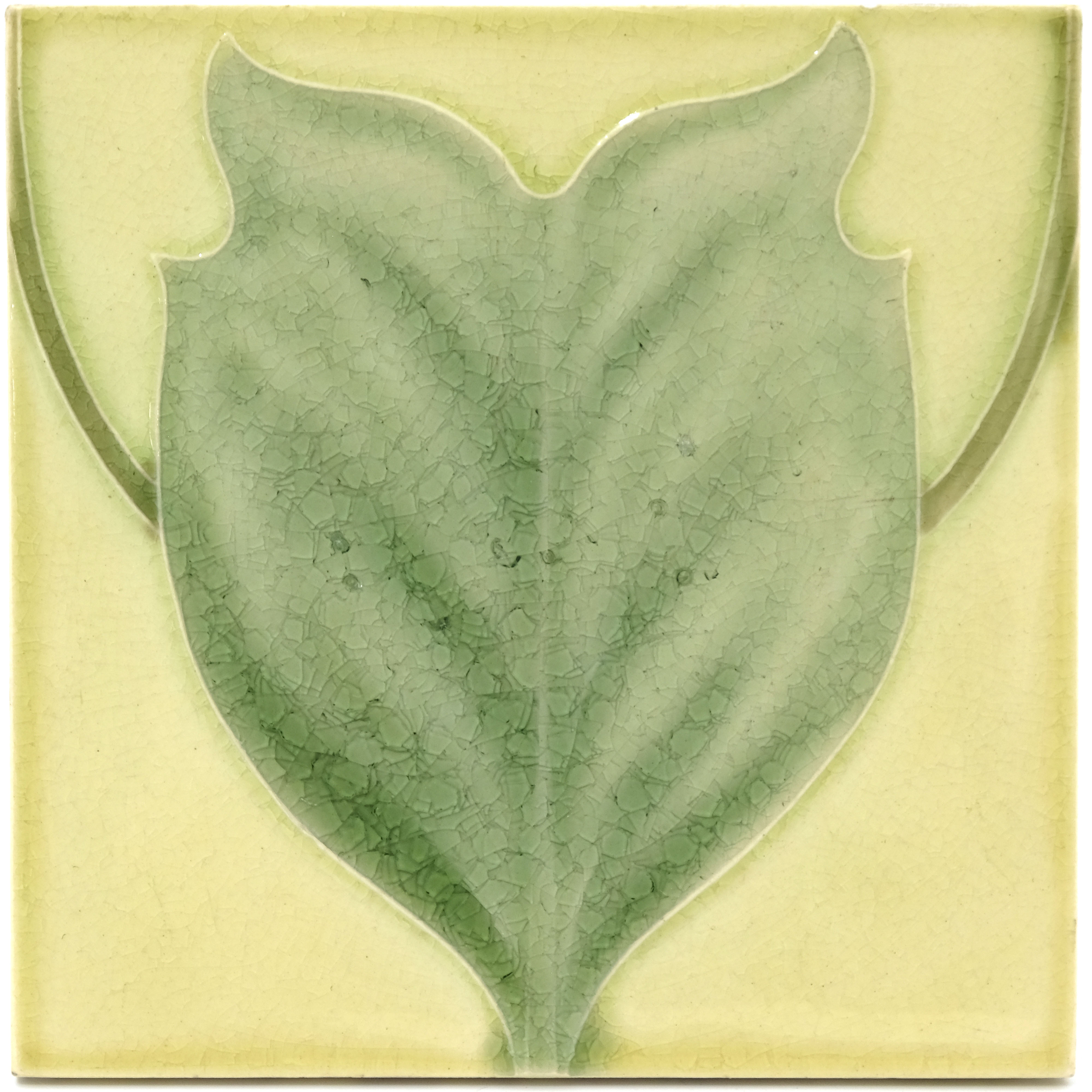 C F A Voysey for Pilkington, two Royal Lancastrian Tulip Tree tiles