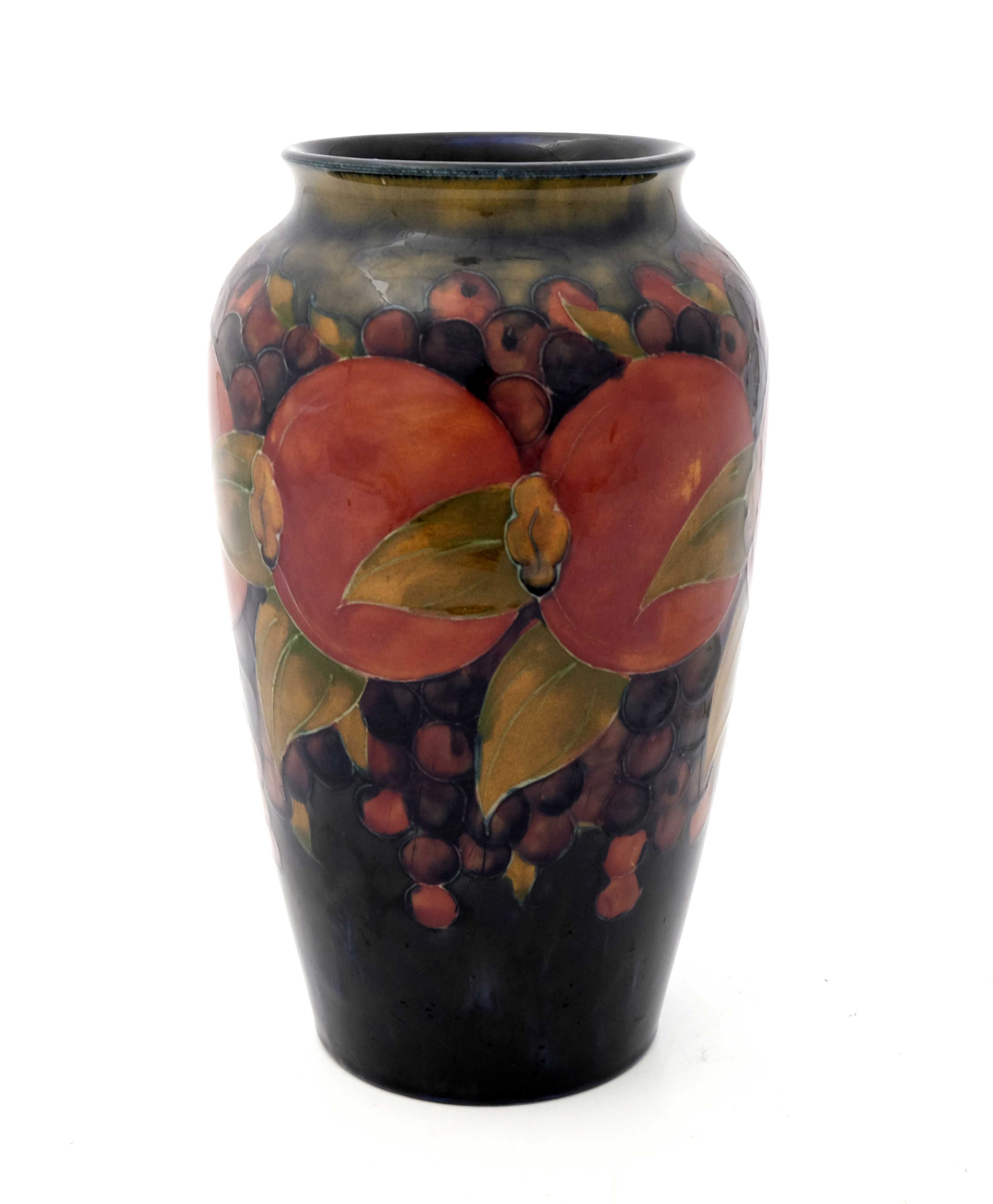 William Moorcroft, a Pomegranate on ochre and blue - Image 3 of 5