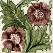 William De Morgan, a K L Rose tile