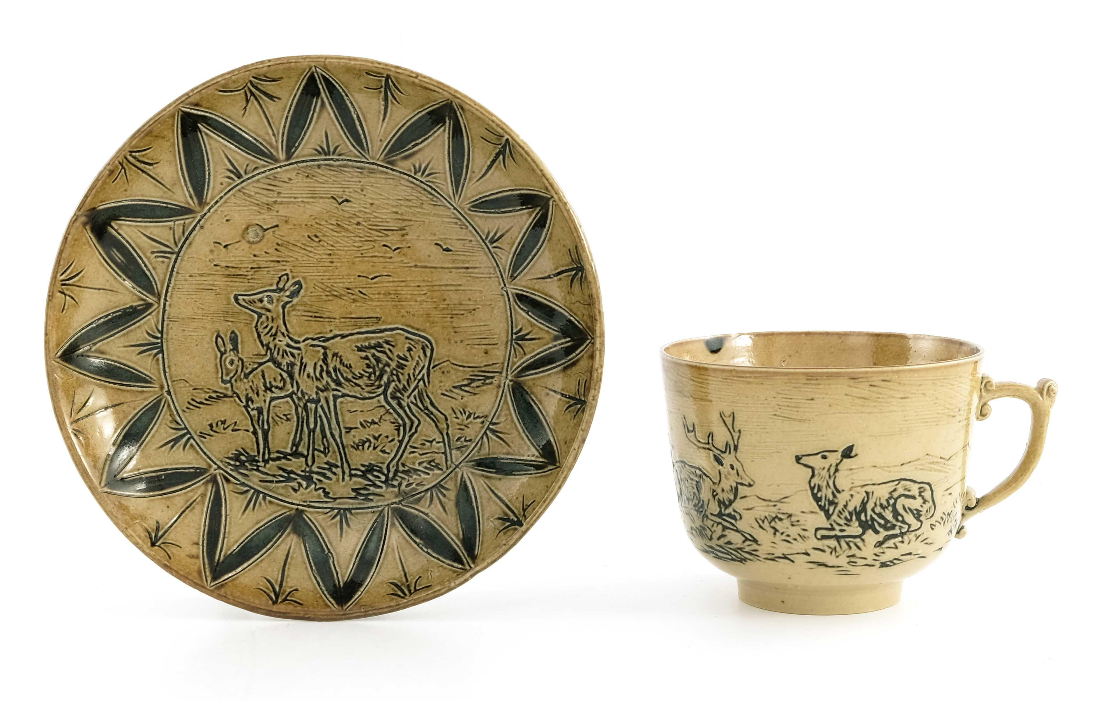 Hannah Barlow for Doulton Lambeth, a stoneware cof