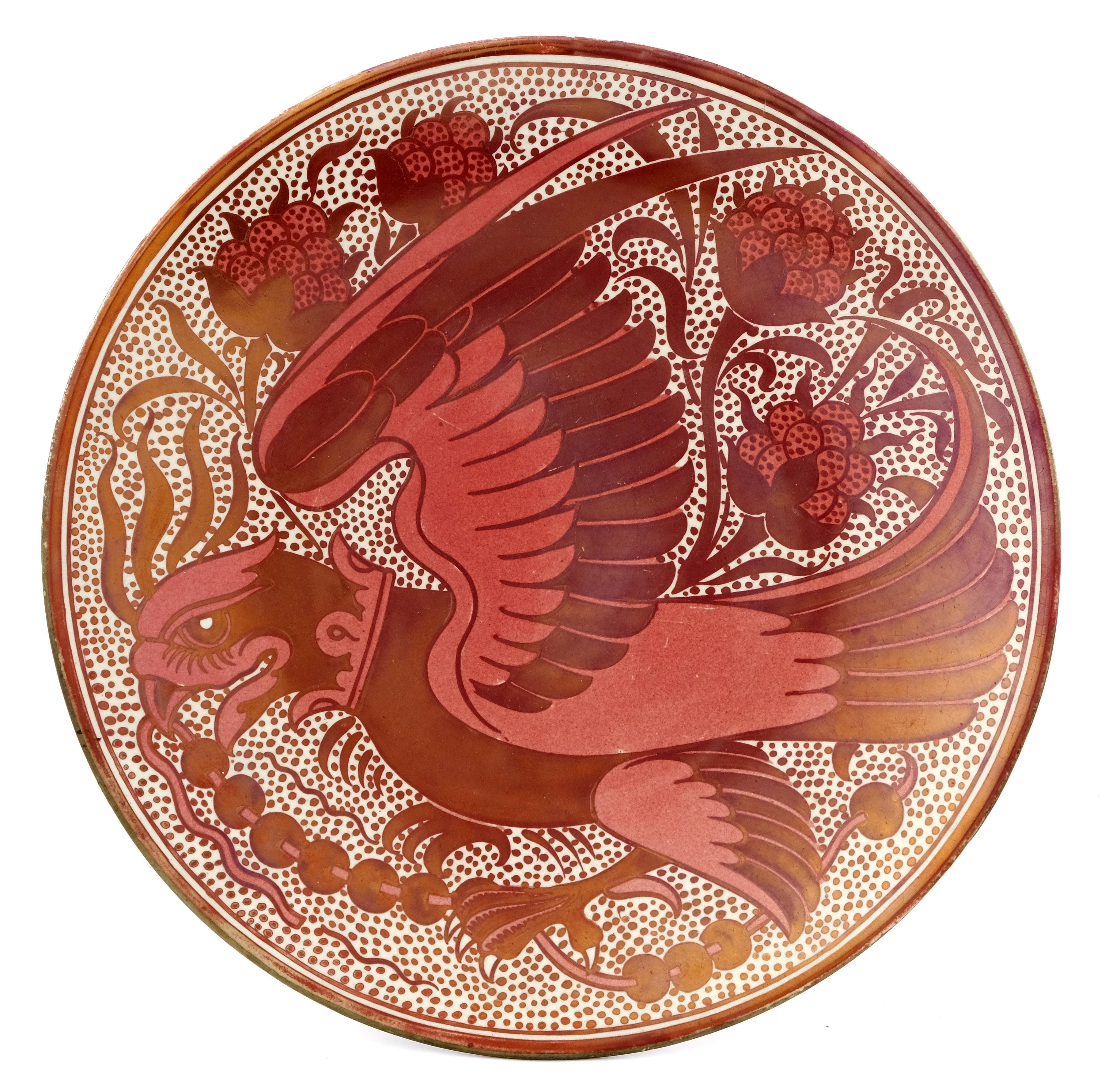 William De Morgan, a lustre plate