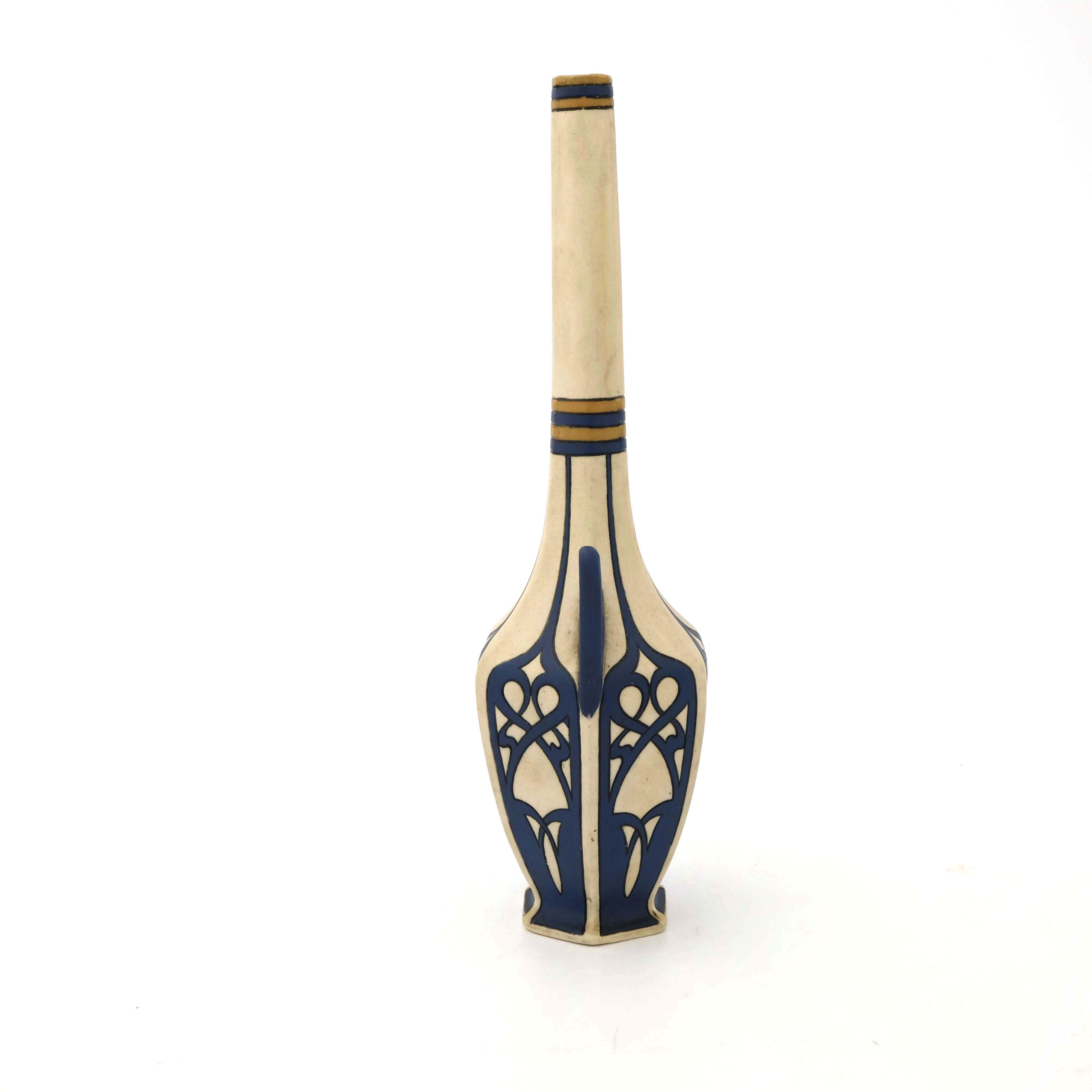 Mettlach, Villeroy and Boch, a Jugendstil vase - Image 4 of 5