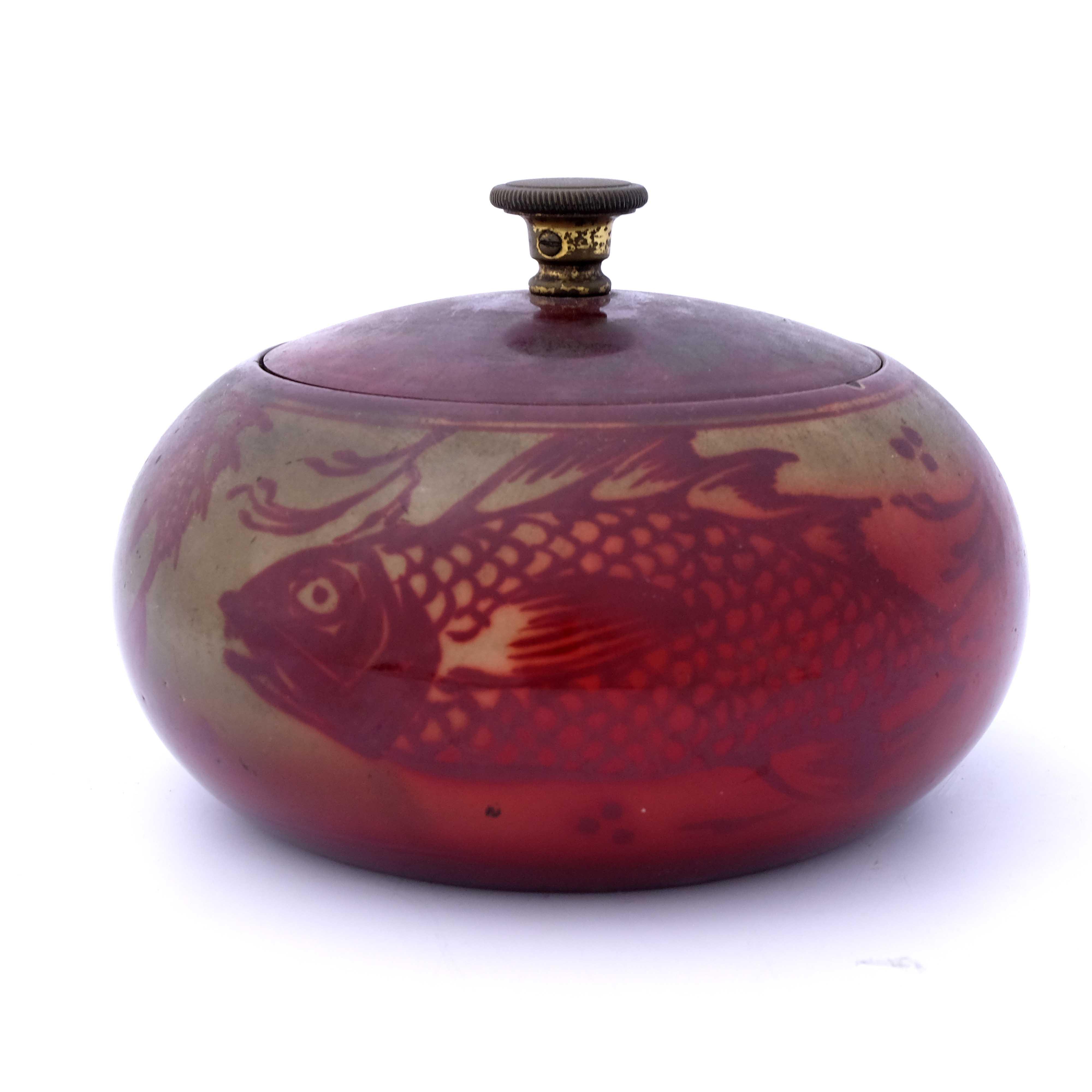 Bernard Moore, a flambe aquatic tobacco jar