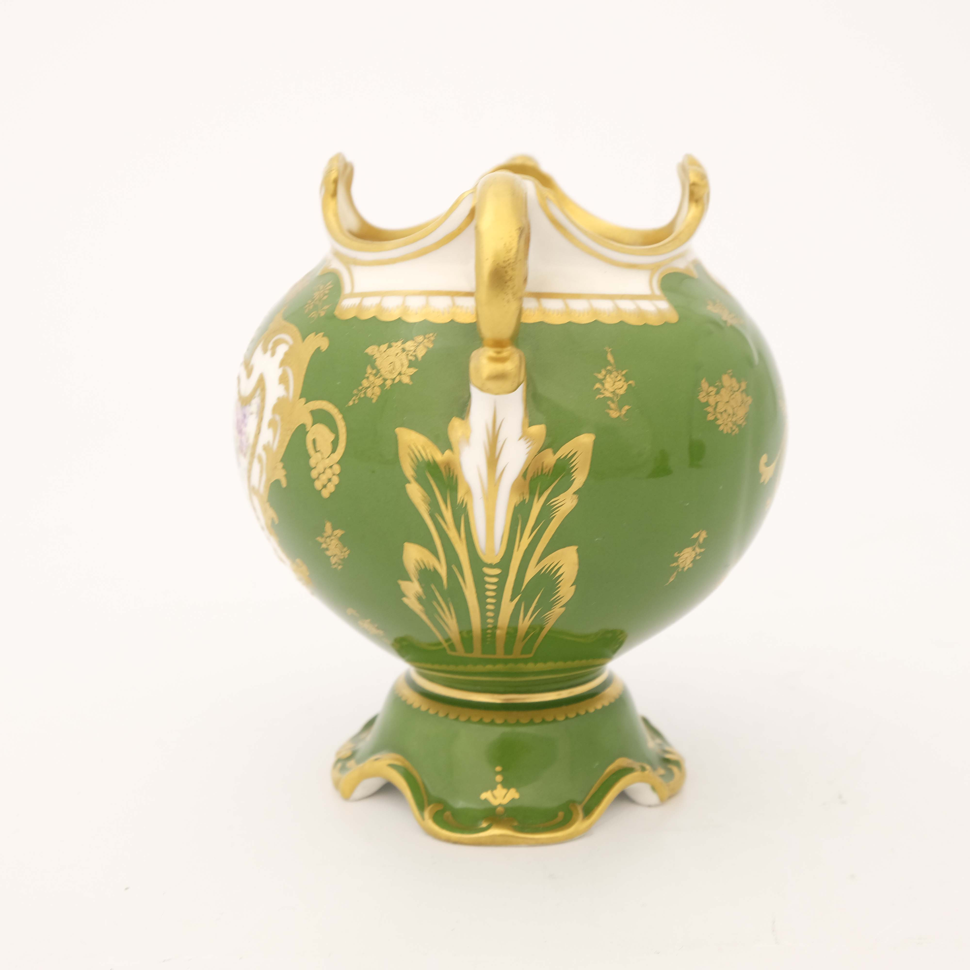 Edwin Wood for Royal Doulton, a floral painted twin handled vase - Image 4 of 7