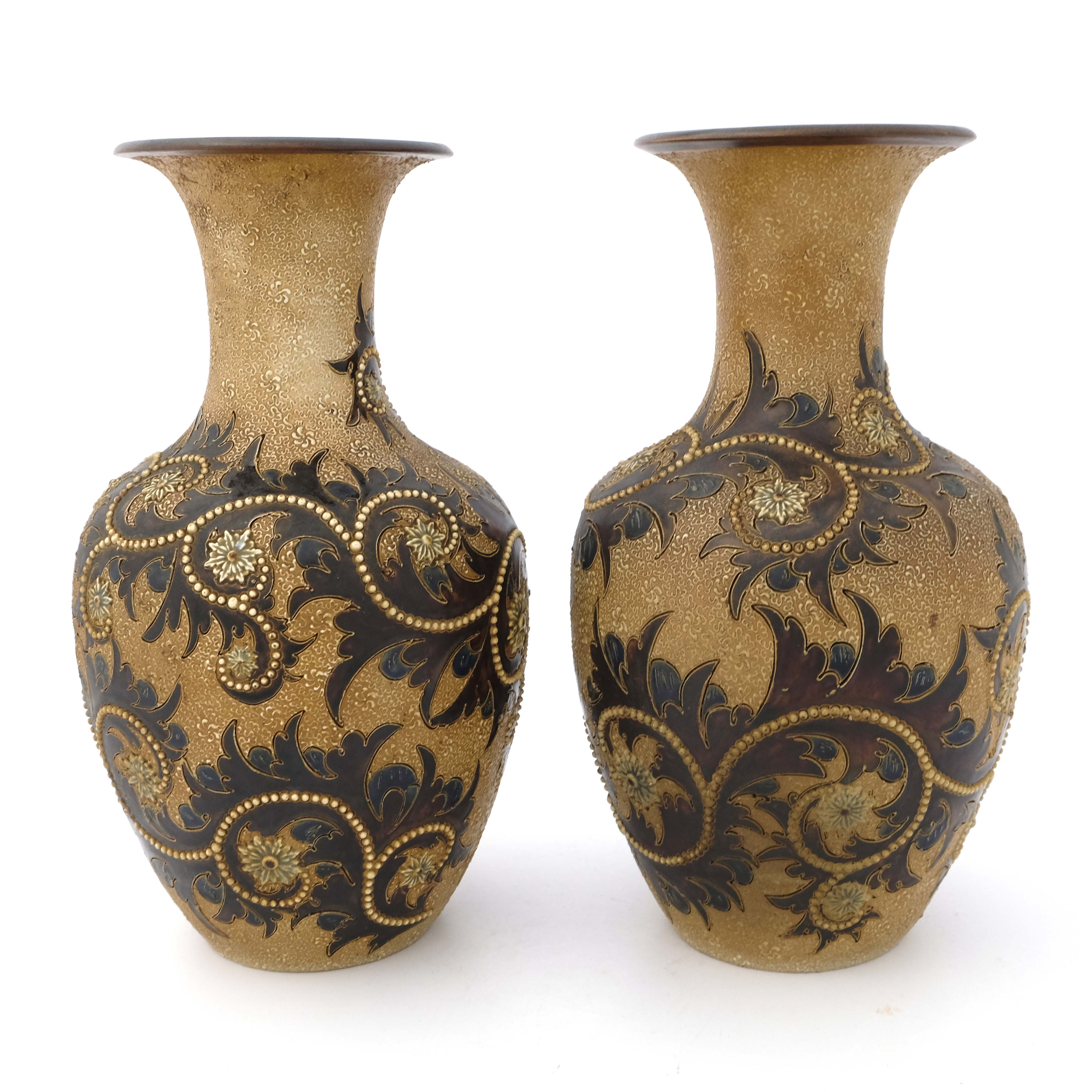 George Tinworth for Doulton Lambeth, a pair of sto - Image 3 of 7