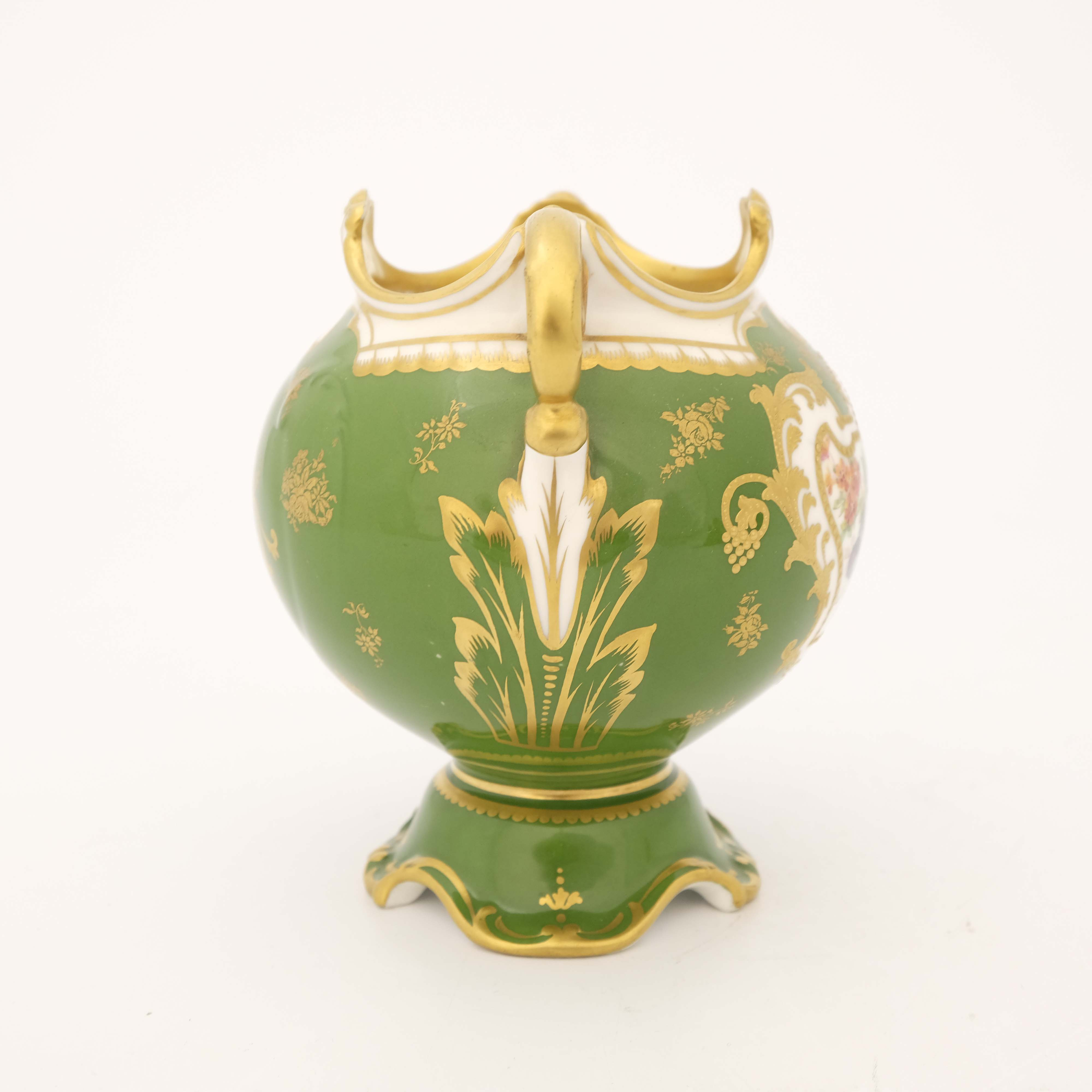 Edwin Wood for Royal Doulton, a floral painted twin handled vase - Image 2 of 7