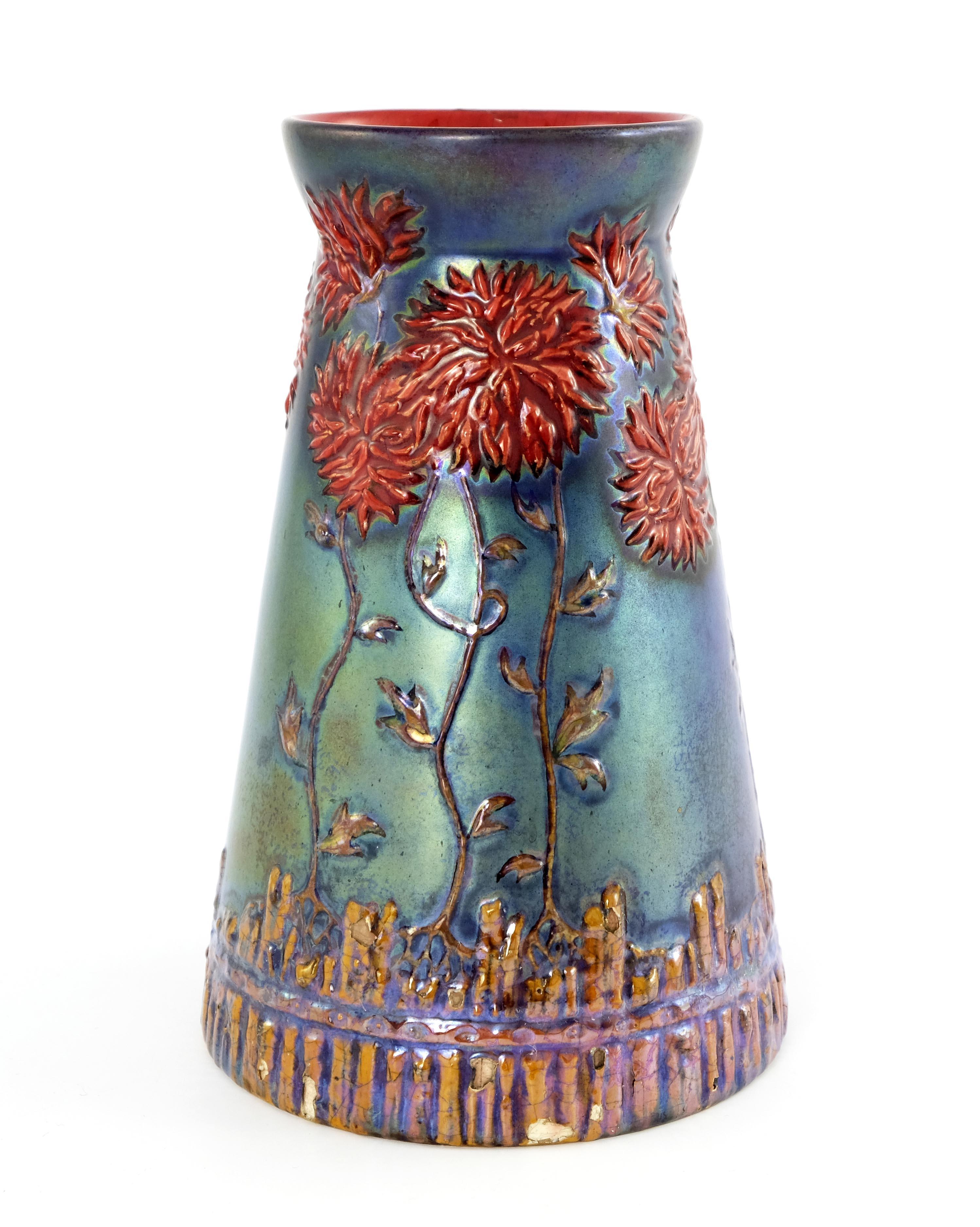 Zsolnay, Pecs, a lustre vase