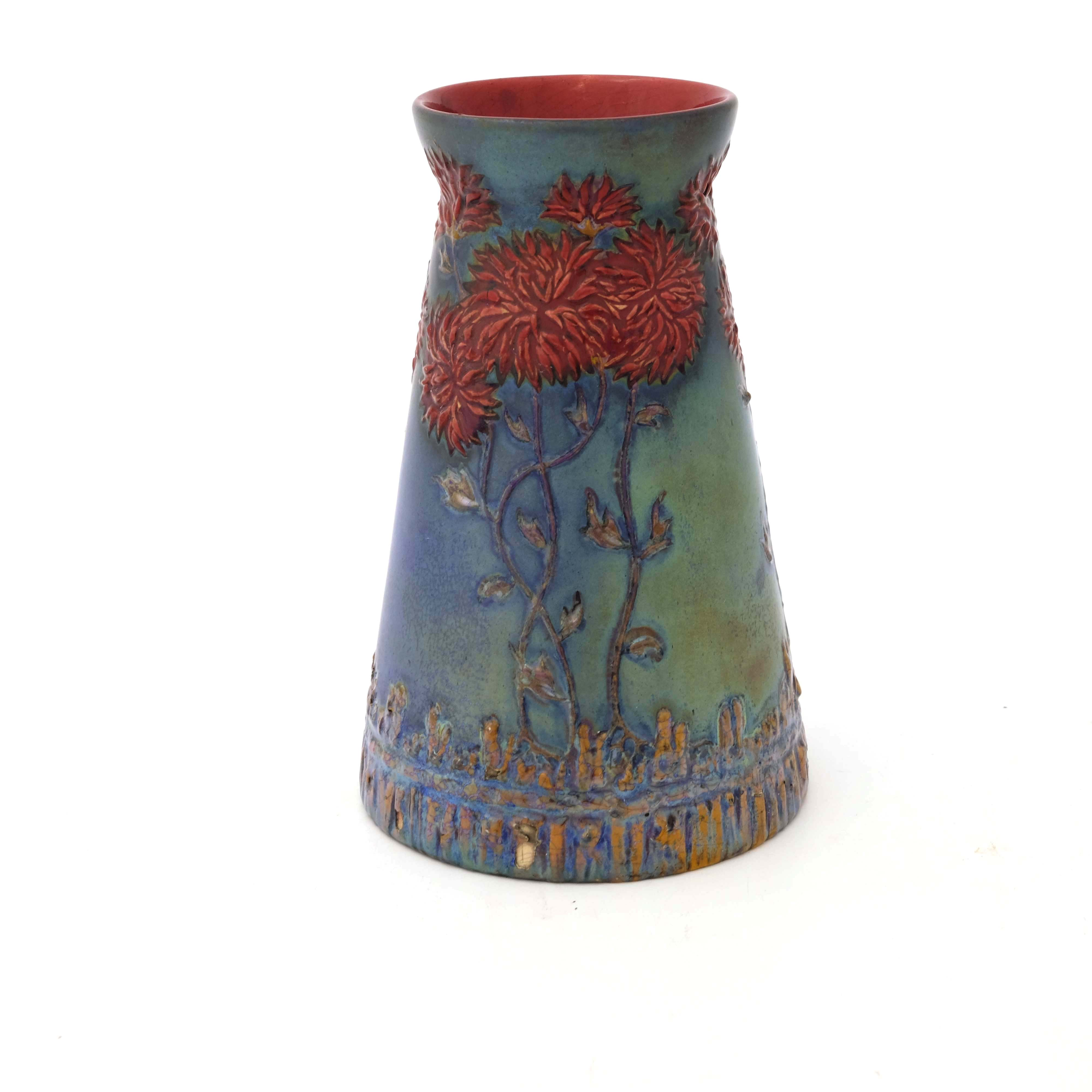 Zsolnay, Pecs, a lustre vase - Image 3 of 6