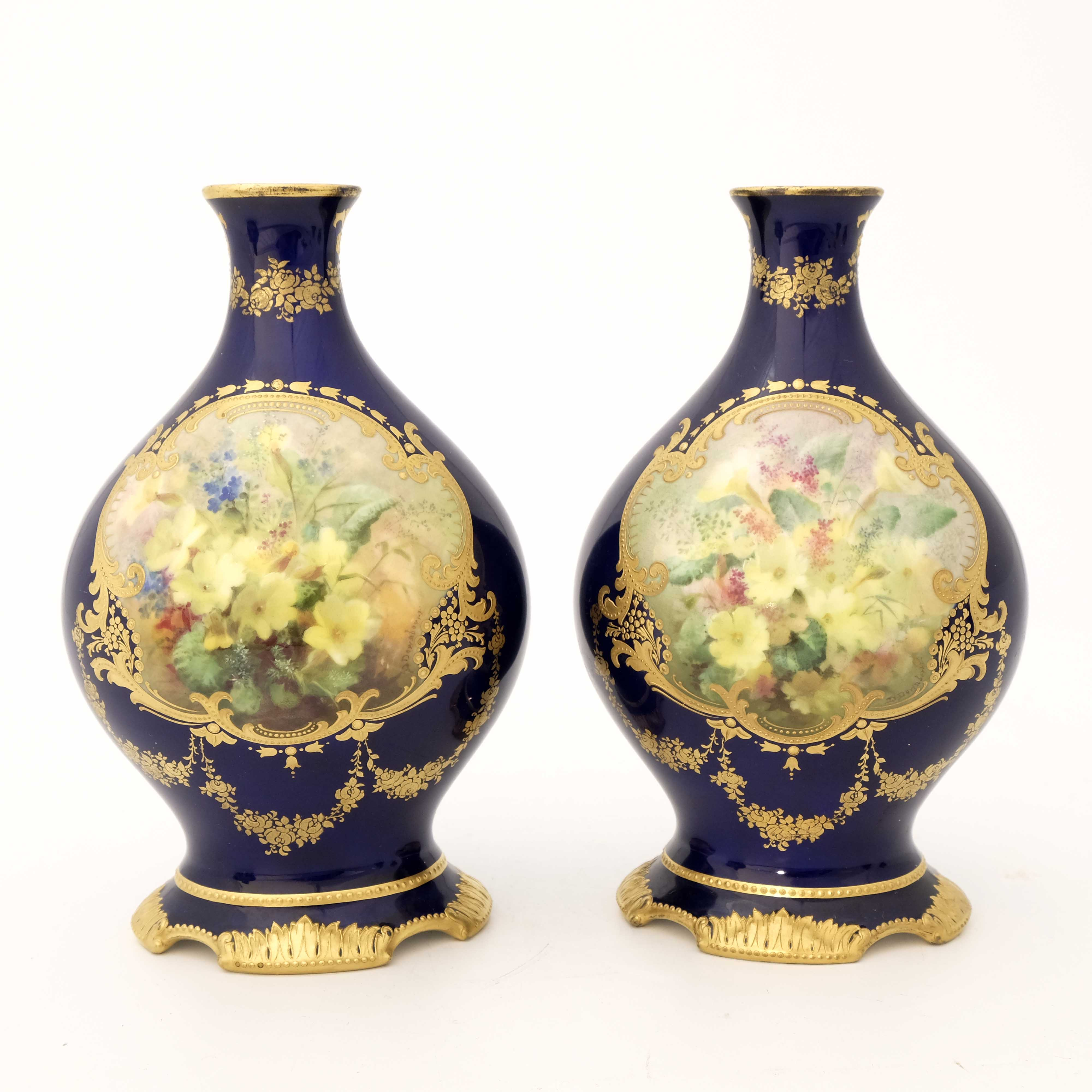 David Dewsberry for Royal Doulton, a pair of flora