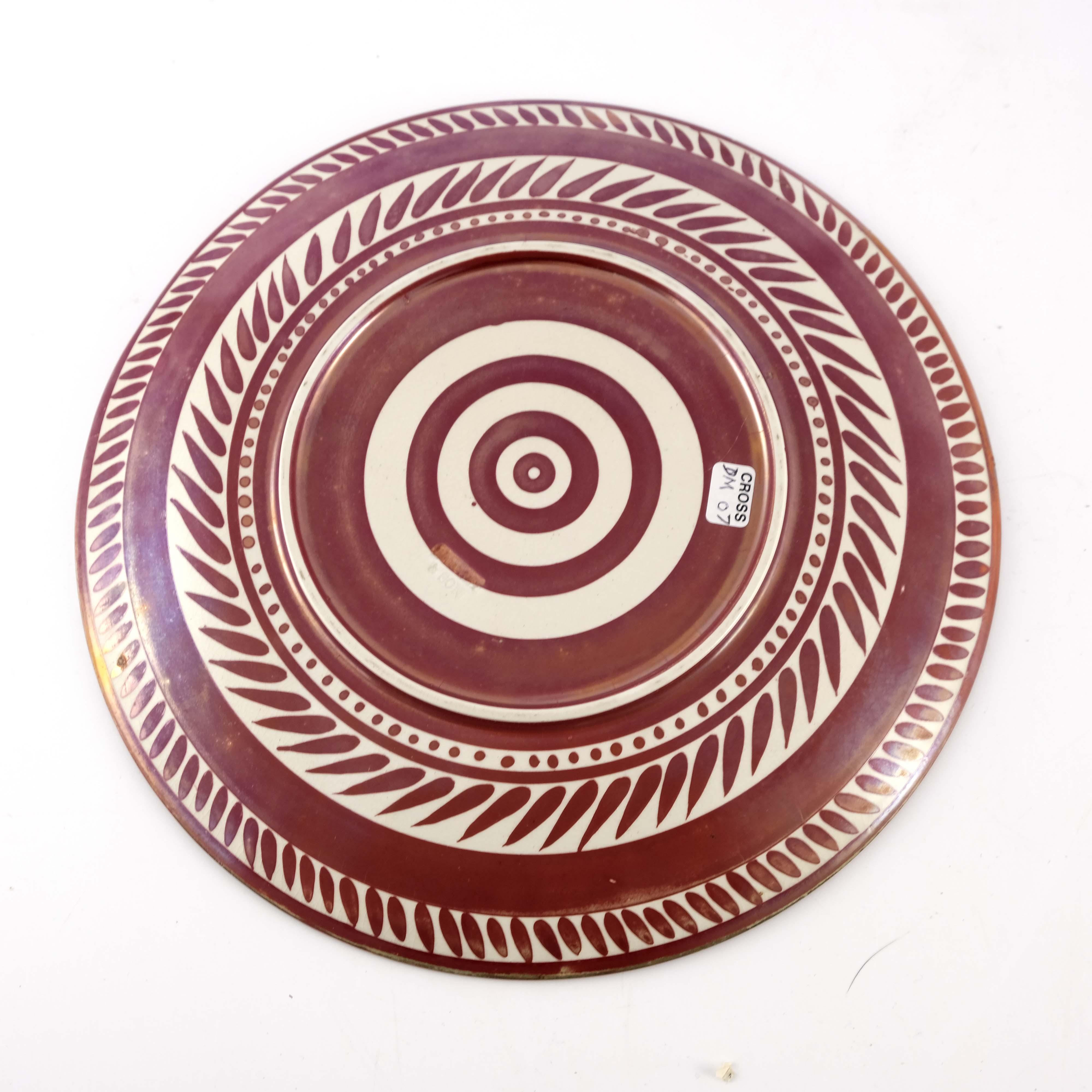 William De Morgan, a lustre plate - Image 3 of 3