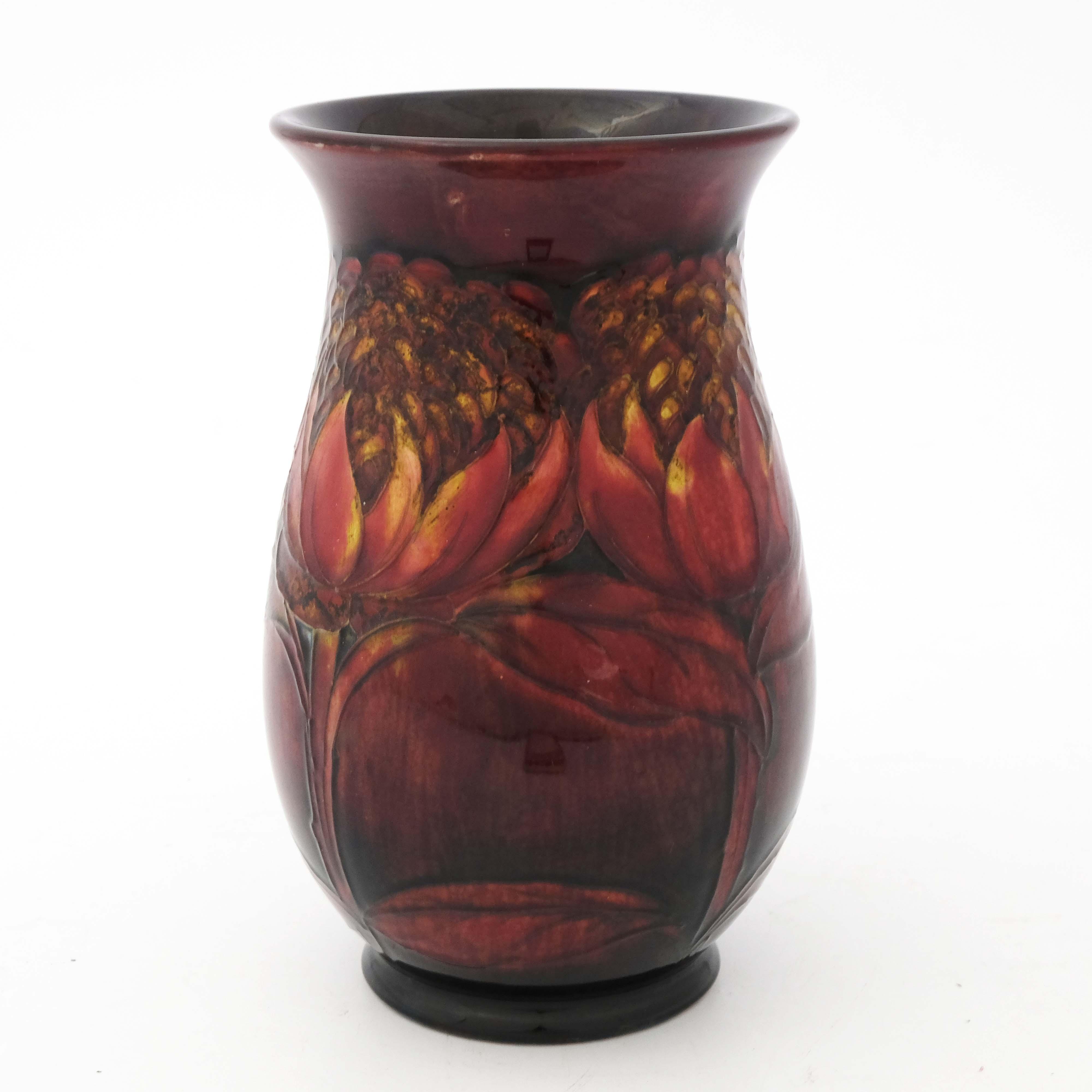William Moorcroft, a Flambe Waratah vase - Image 2 of 5