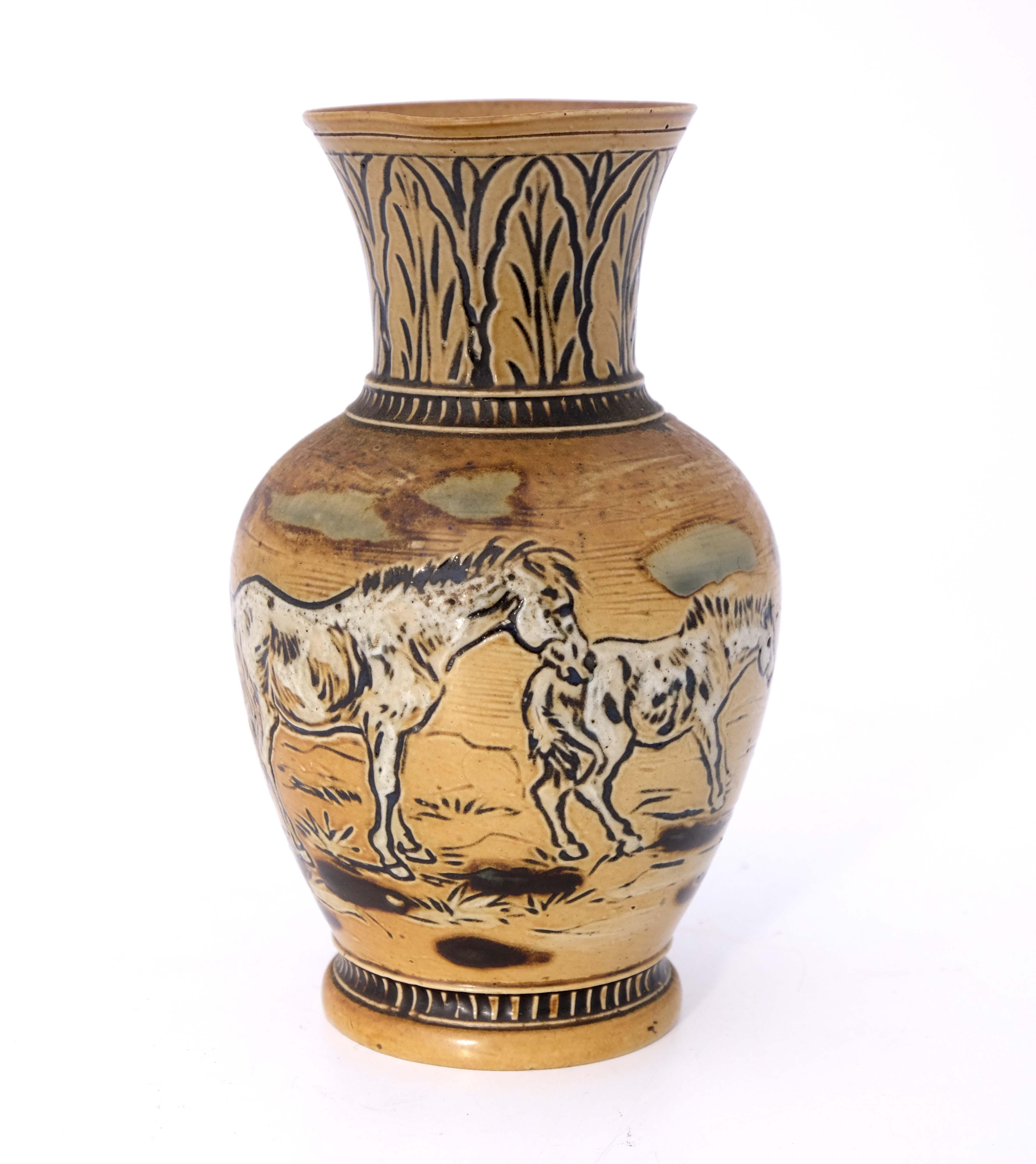 Hannah Barlow for Doulton Lambeth, a stoneware jug - Image 2 of 6