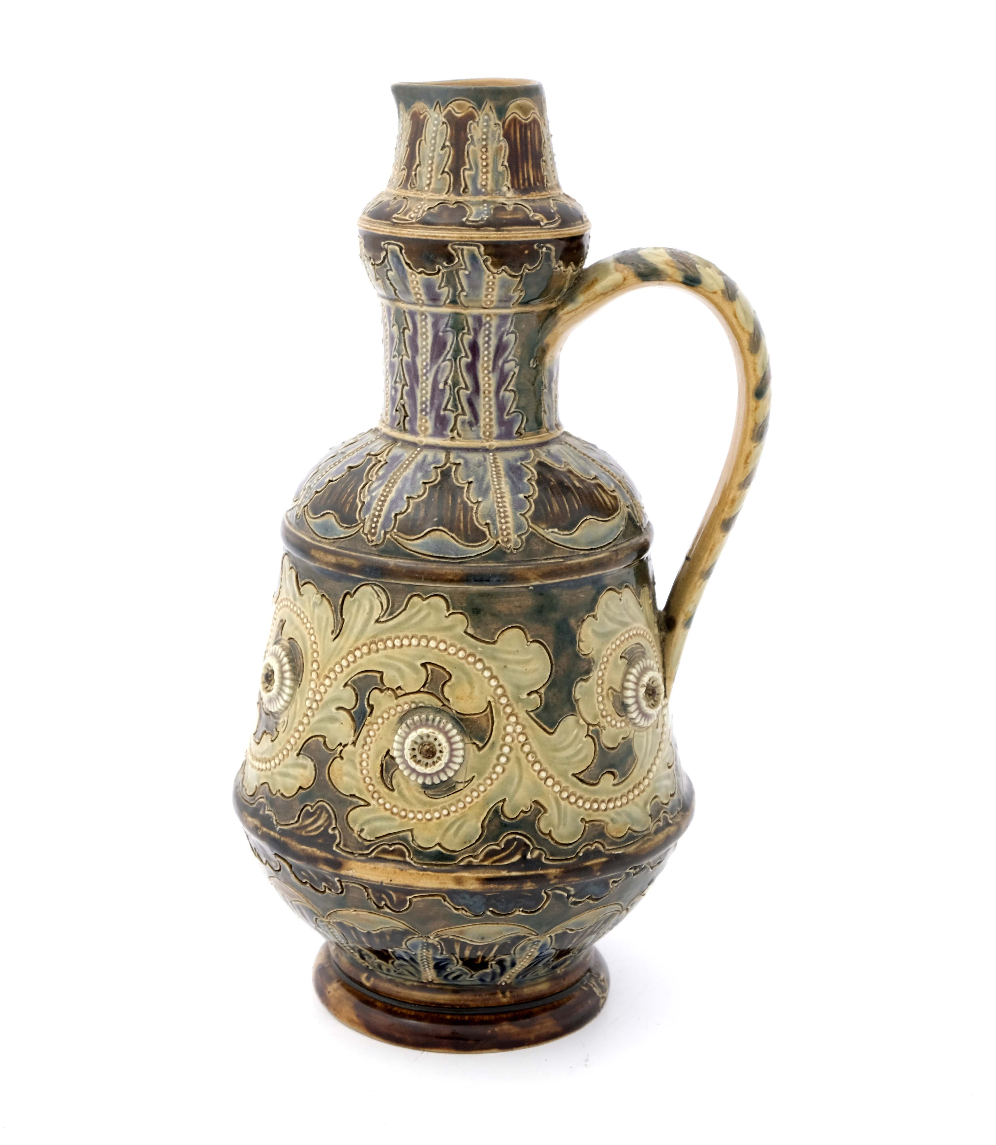 George Tinworth for Doulton Lambeth, a stoneware j - Image 3 of 6