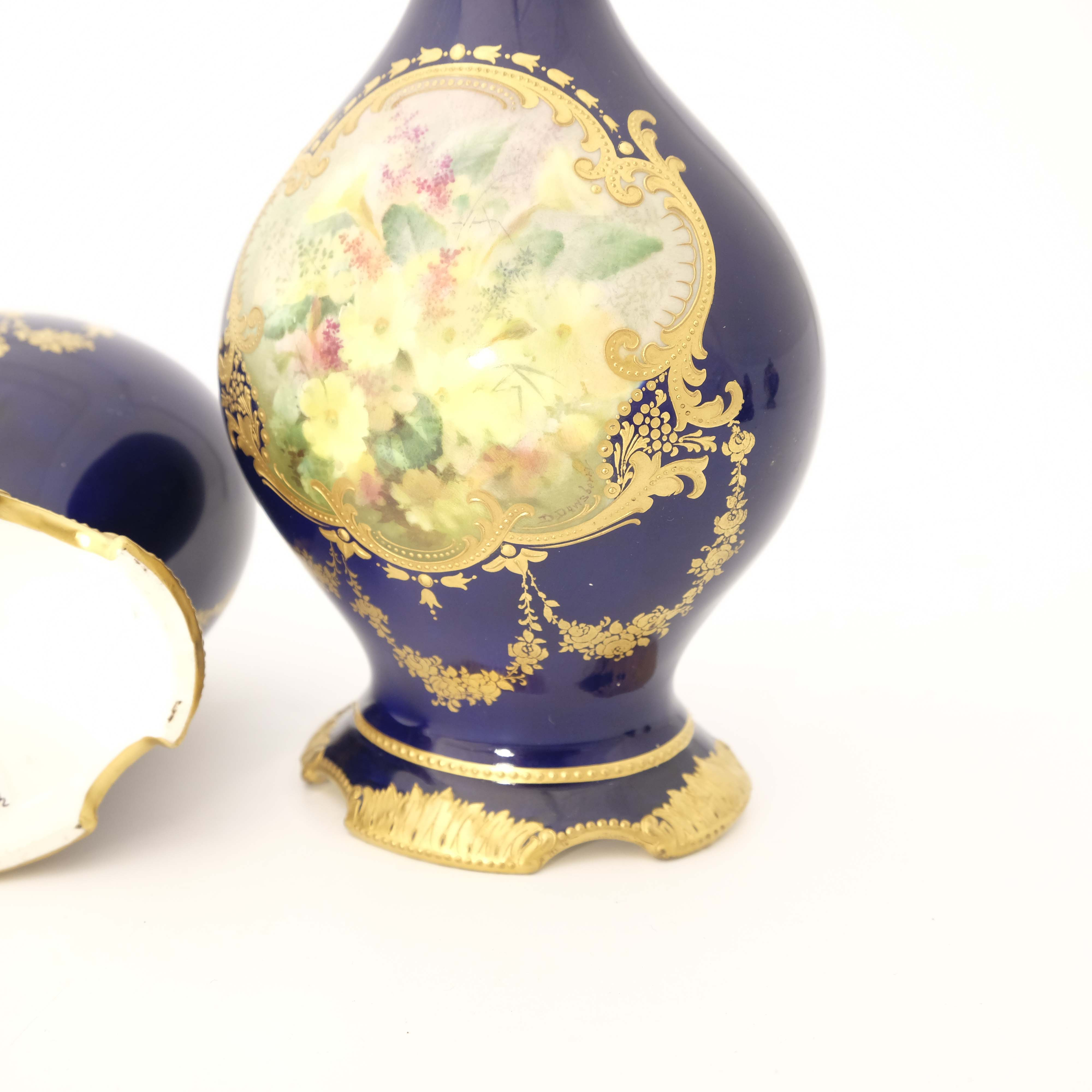 David Dewsberry for Royal Doulton, a pair of flora - Image 6 of 6