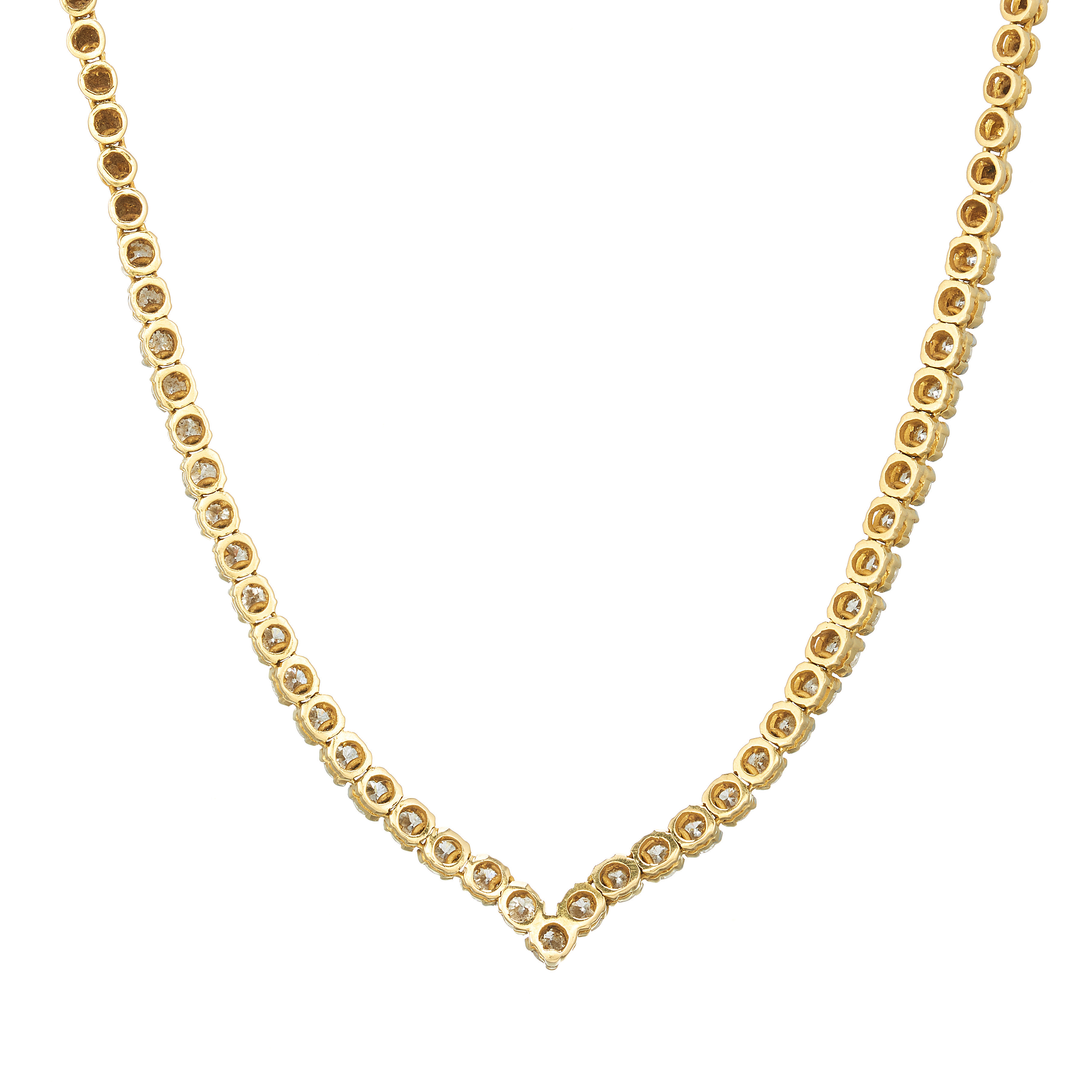 An 18ct gold diamond line necklace - Image 2 of 3