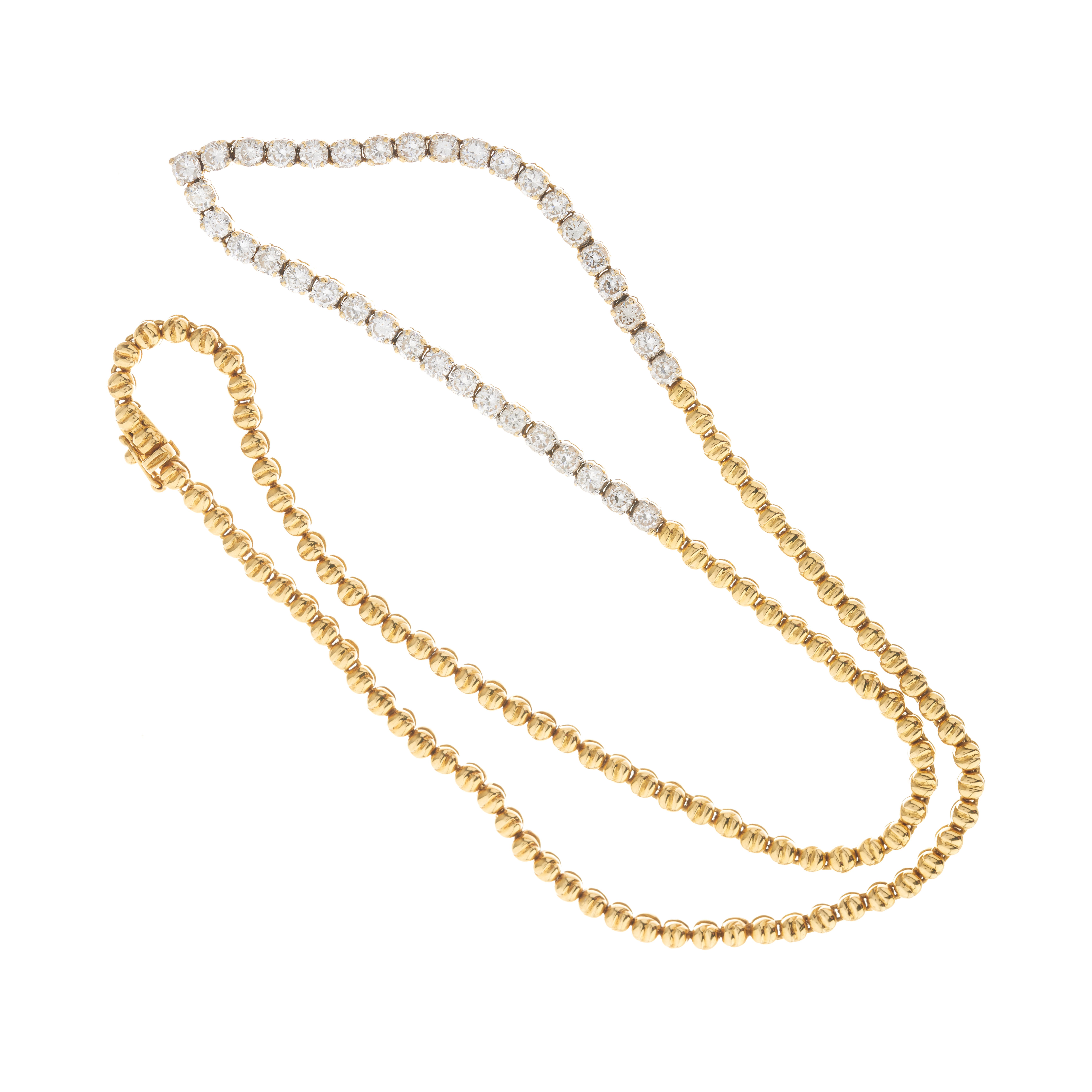 An 18ct gold diamond line necklace - Image 3 of 3
