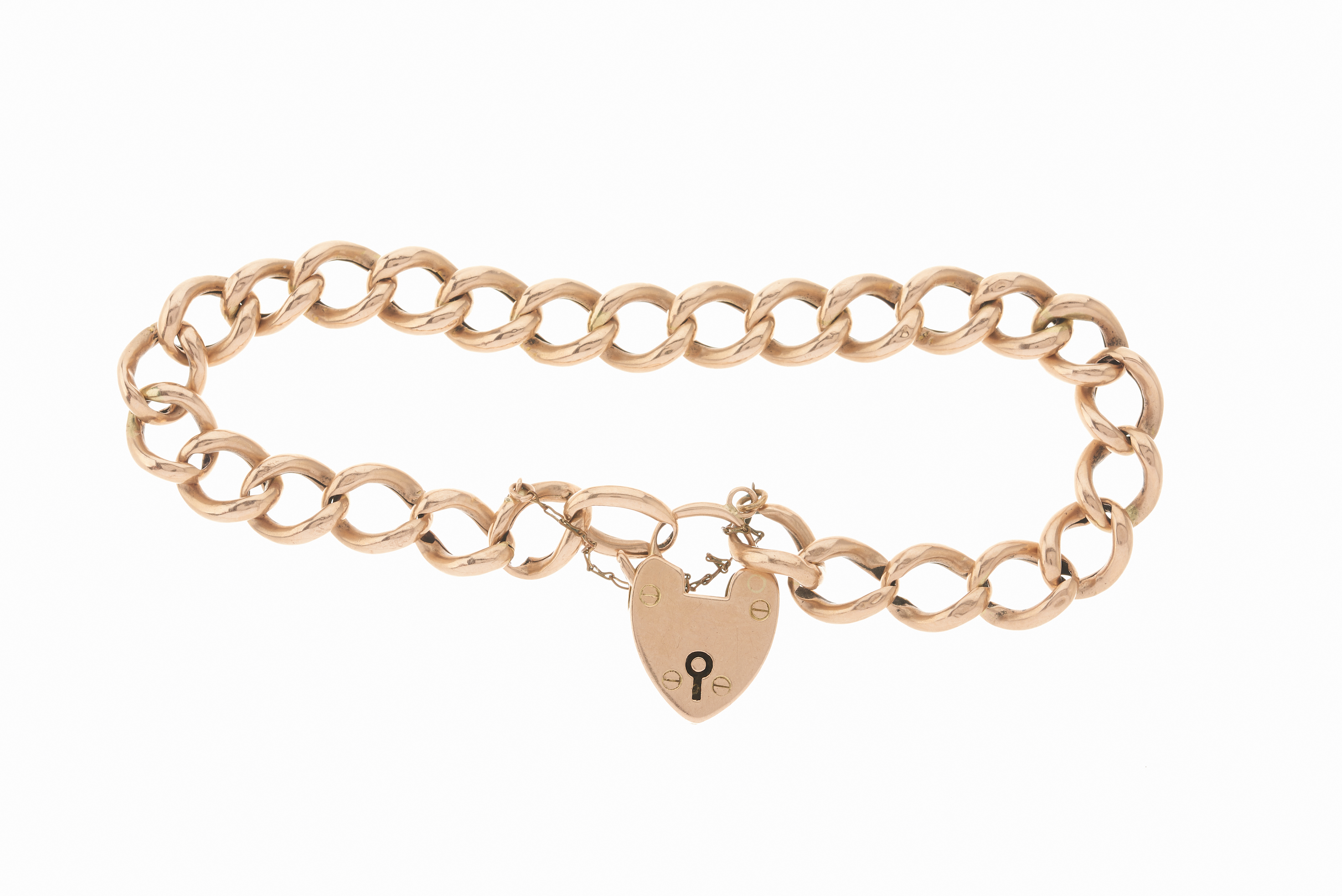 An early 20th century 9ct gold curb-link bracelet, - Image 2 of 2