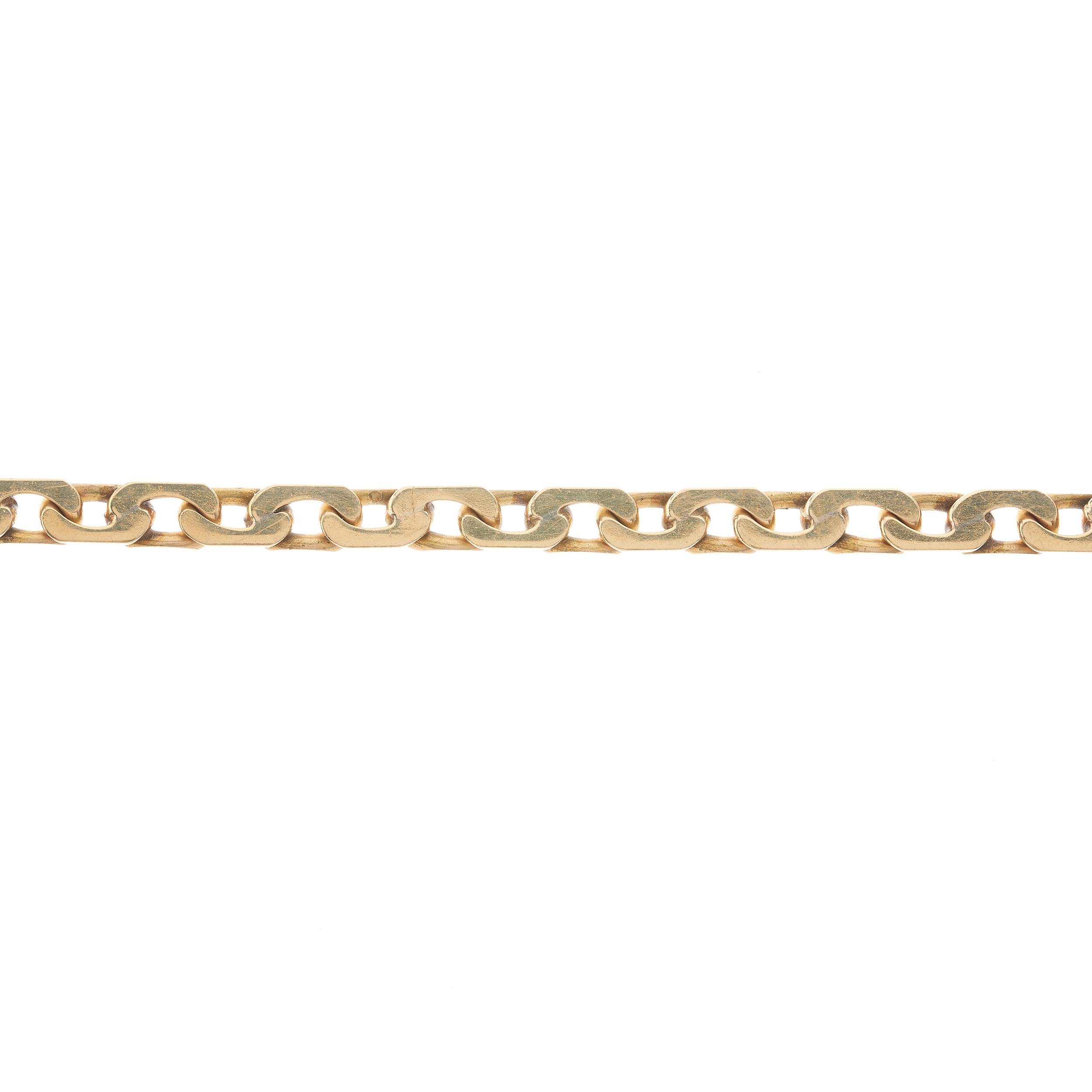 A 1970s 9ct gold flat curb-link bracelet