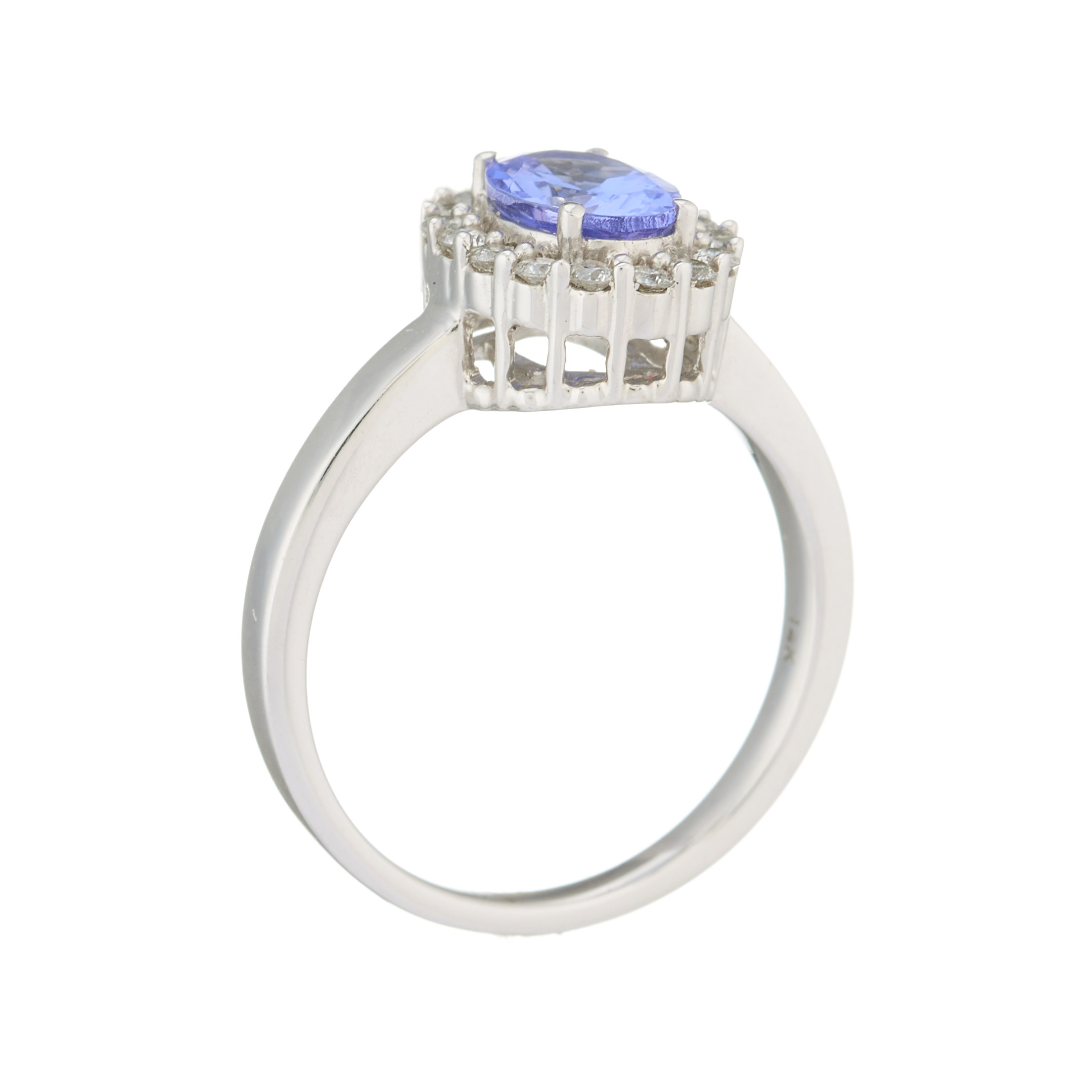 A 14ct gold tanzanite and brilliant-cut diamond cluster ring - Image 2 of 2