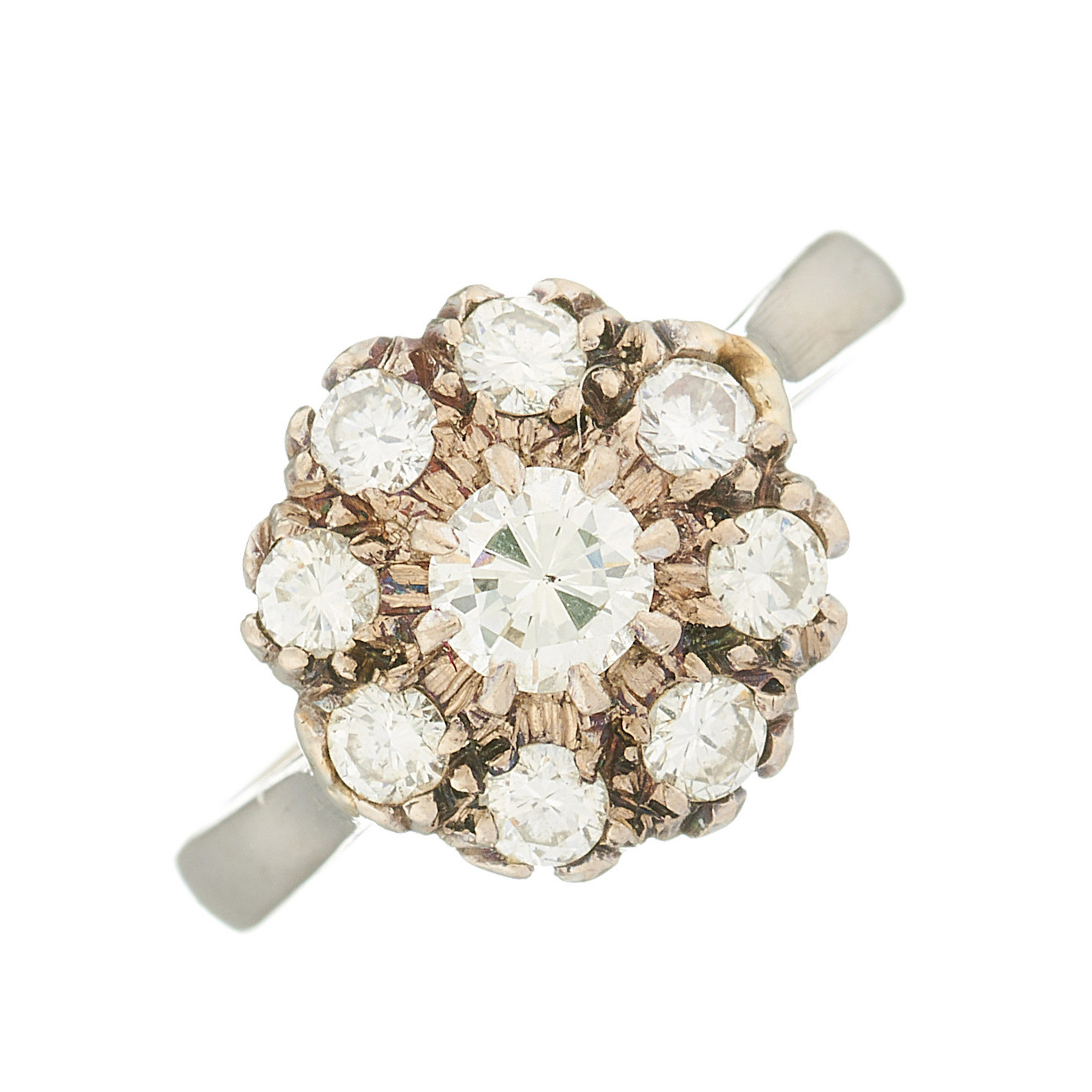 An 18ct gold diamond floral cluster ring