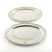 A pair of George III silver meat platters, Paul Storr, London 1801