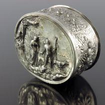 A 17th century German silver box, WP, Konigsberg 1685