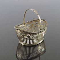 A Dutch Biedermeier reticulated silver basket, BG,