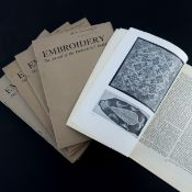 """1930's: """"Embroidery, the Journal of the Embroiderers' Guild"""", 15 copies ranging from December 1934 t"""