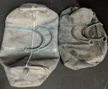 Two Dior mens suede gym bags