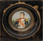 19th century French School, Miniature portrait of Napoleon I (1769-1821), Emperor of the French,