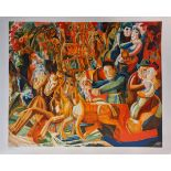 Pavel Filonov (Russian, 1883-1941), Carnival Week, lithograph, numbered 1103/2000, published by