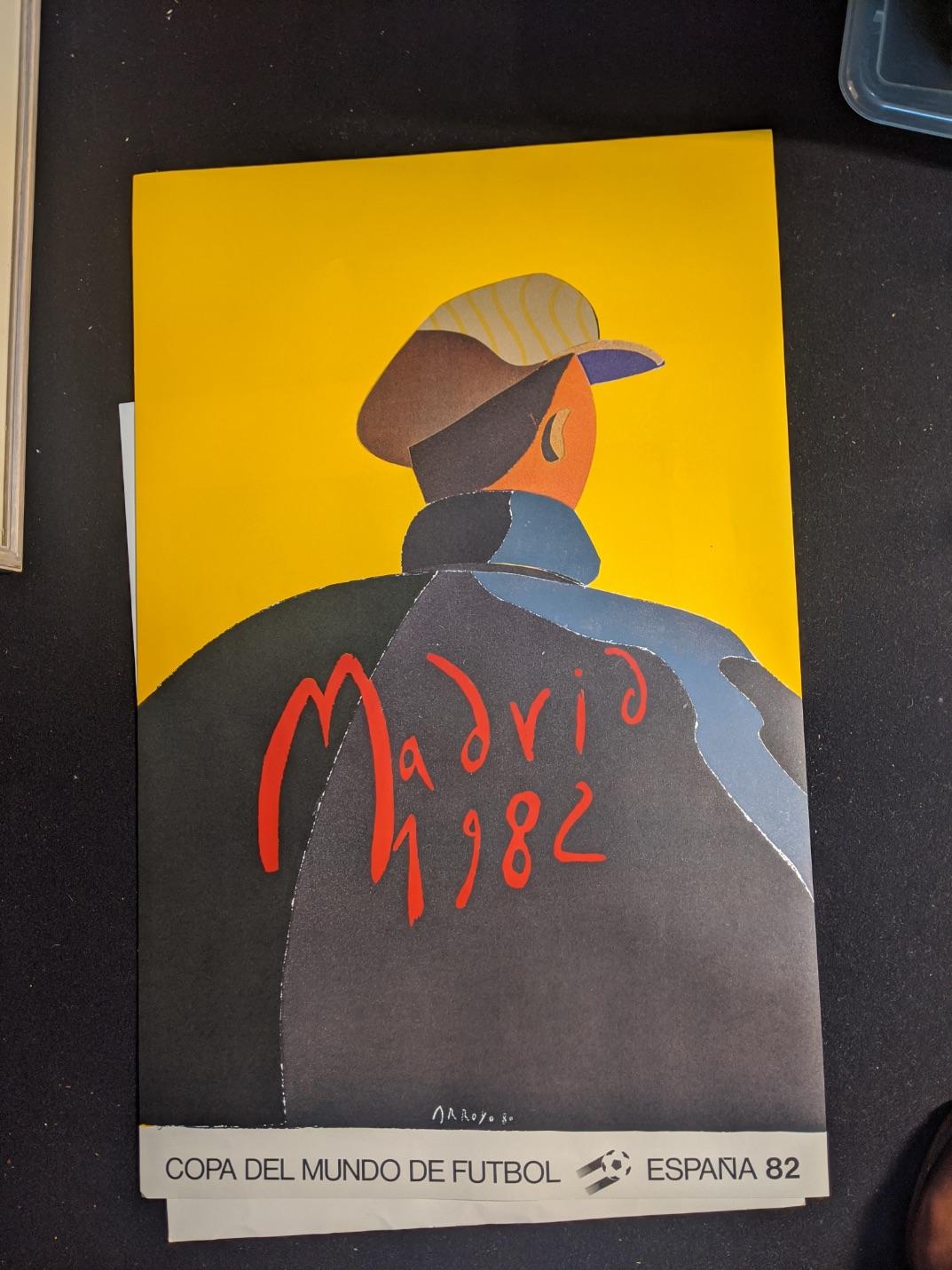 After Arroyo, Madrid 1982 Cope Del Mundo Espana 82 poster, H.94cm W.60cm - Image 2 of 2