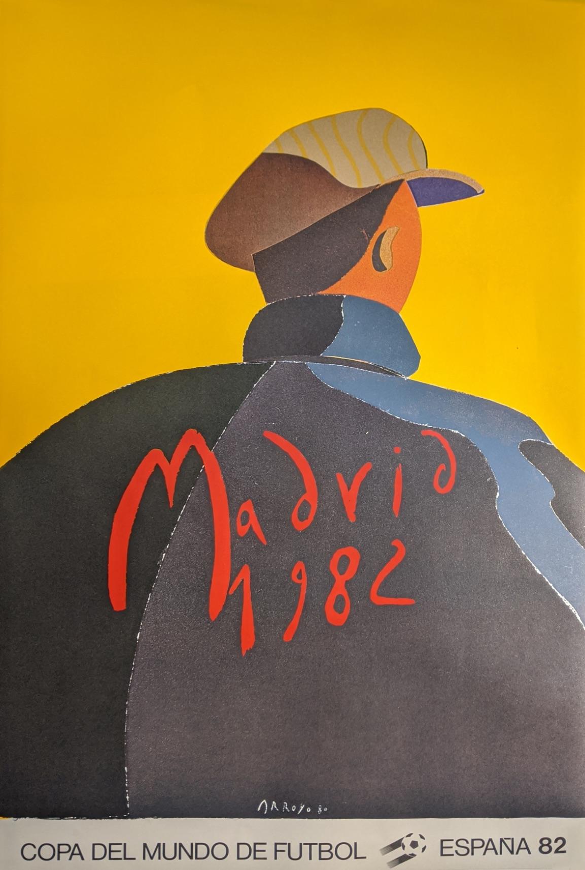 After Arroyo, Madrid 1982 Cope Del Mundo Espana 82 poster, H.94cm W.60cm