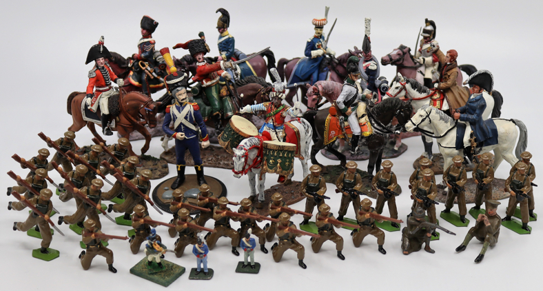 A collection of lead toys to include World War One British Army figures, collection Del Prado