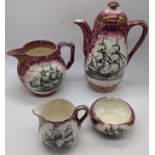 A collection of Gray s Pottery, pattern A7967 splashed lustre, mid-20th century, to include a tea