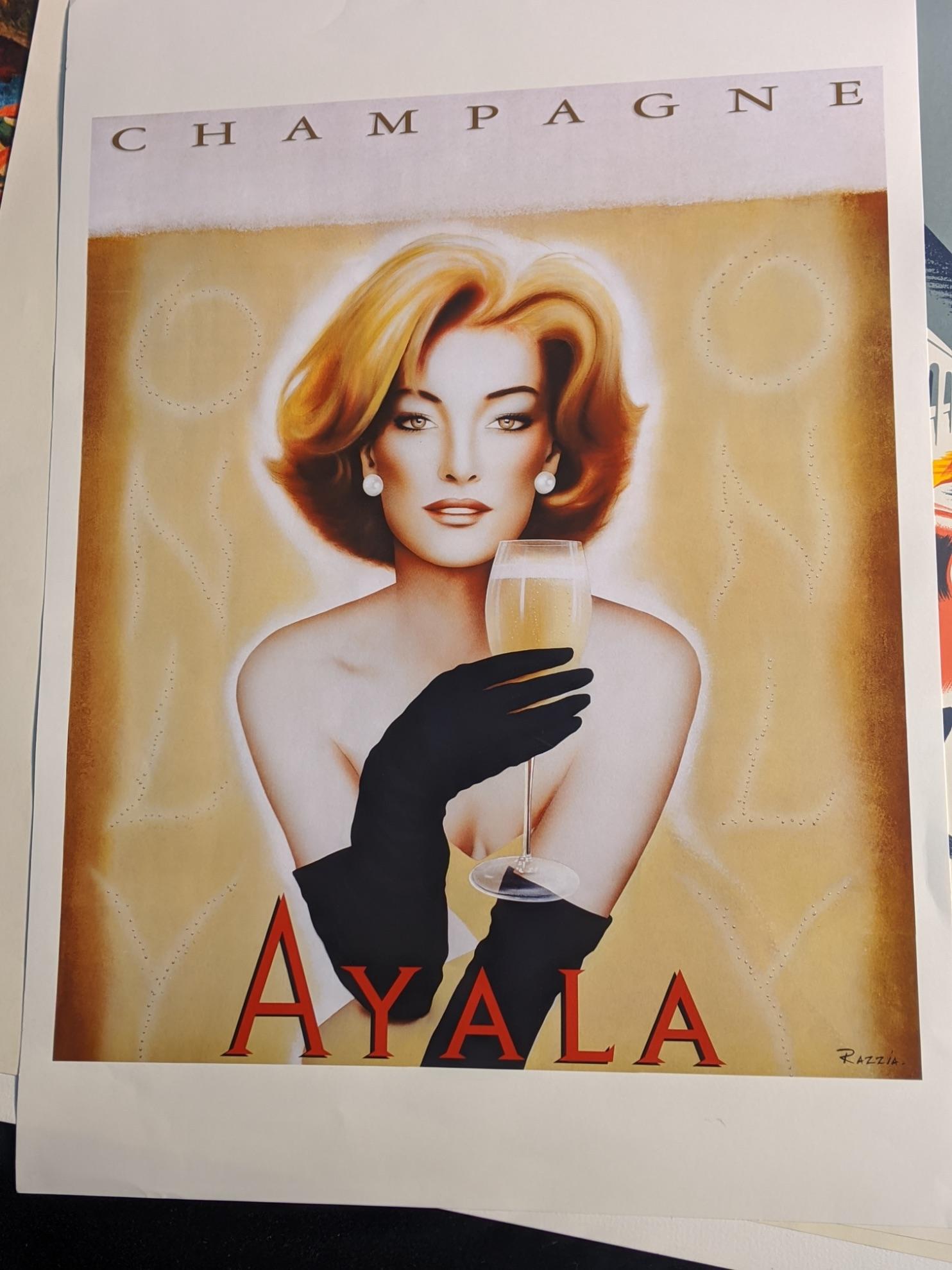 Ayala champagne poster 70cm x 50cm - Image 2 of 2