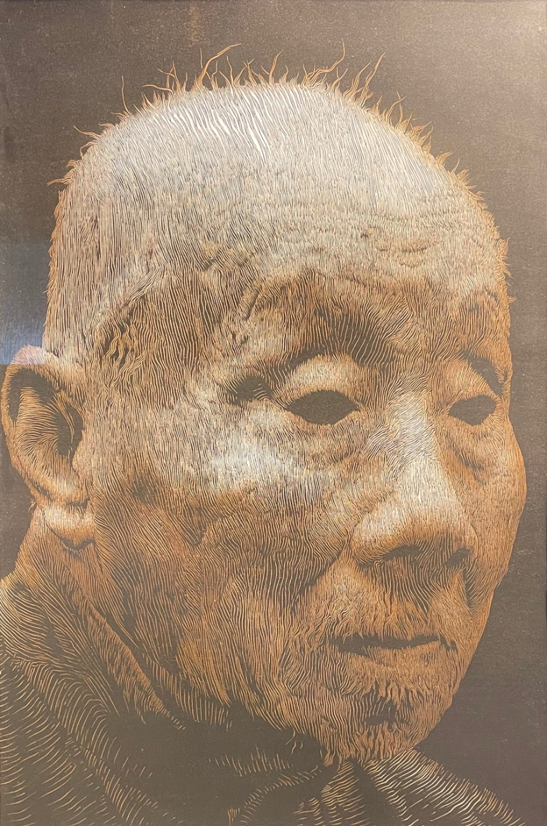 Liu Jing (Contemporary Chinese), Master, 2008, woodblock, signed in pencil, numbered 8/15, full
