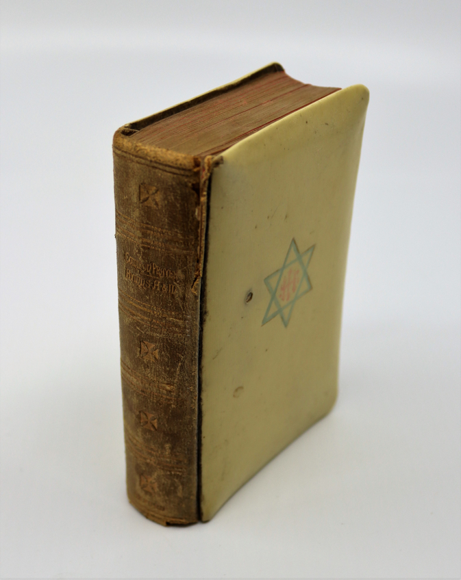 Unusual prayer hymn book, front cover depicting Star of David to cover. Together with an Active - Image 5 of 5