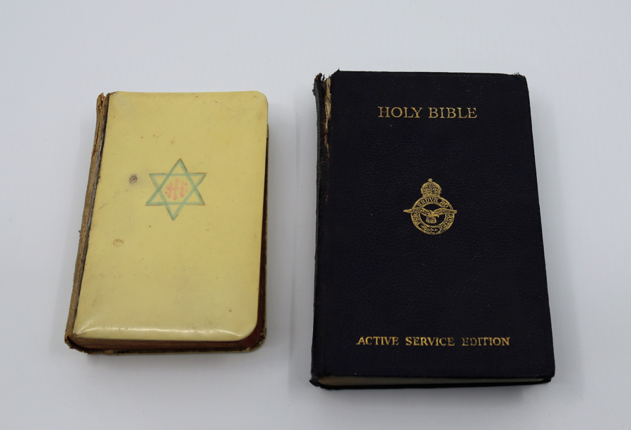 Unusual prayer hymn book, front cover depicting Star of David to cover. Together with an Active